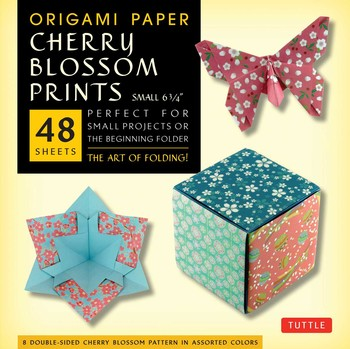 "Origami Paper - Cherry Blossom Patterns - Small - 6 3/4"" - 48 Sheets"