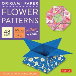 Origami Paper - Flower Patterns - 6 3/4'' Size - 48 Sheets