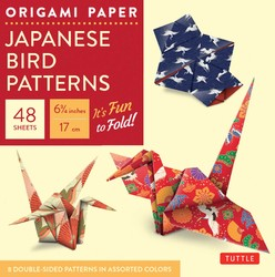 "Origami Paper - Japanese Bird Patterns - 6 3/4"" - 48 Sheets"