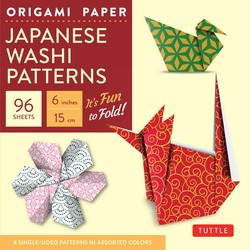 "Origami Paper - Japanese Washi Patterns - 6"" 96 Sheets"