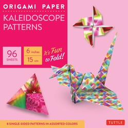 "Origami Paper - Kaleidoscope Patterns - 6"" 96 Sheets"