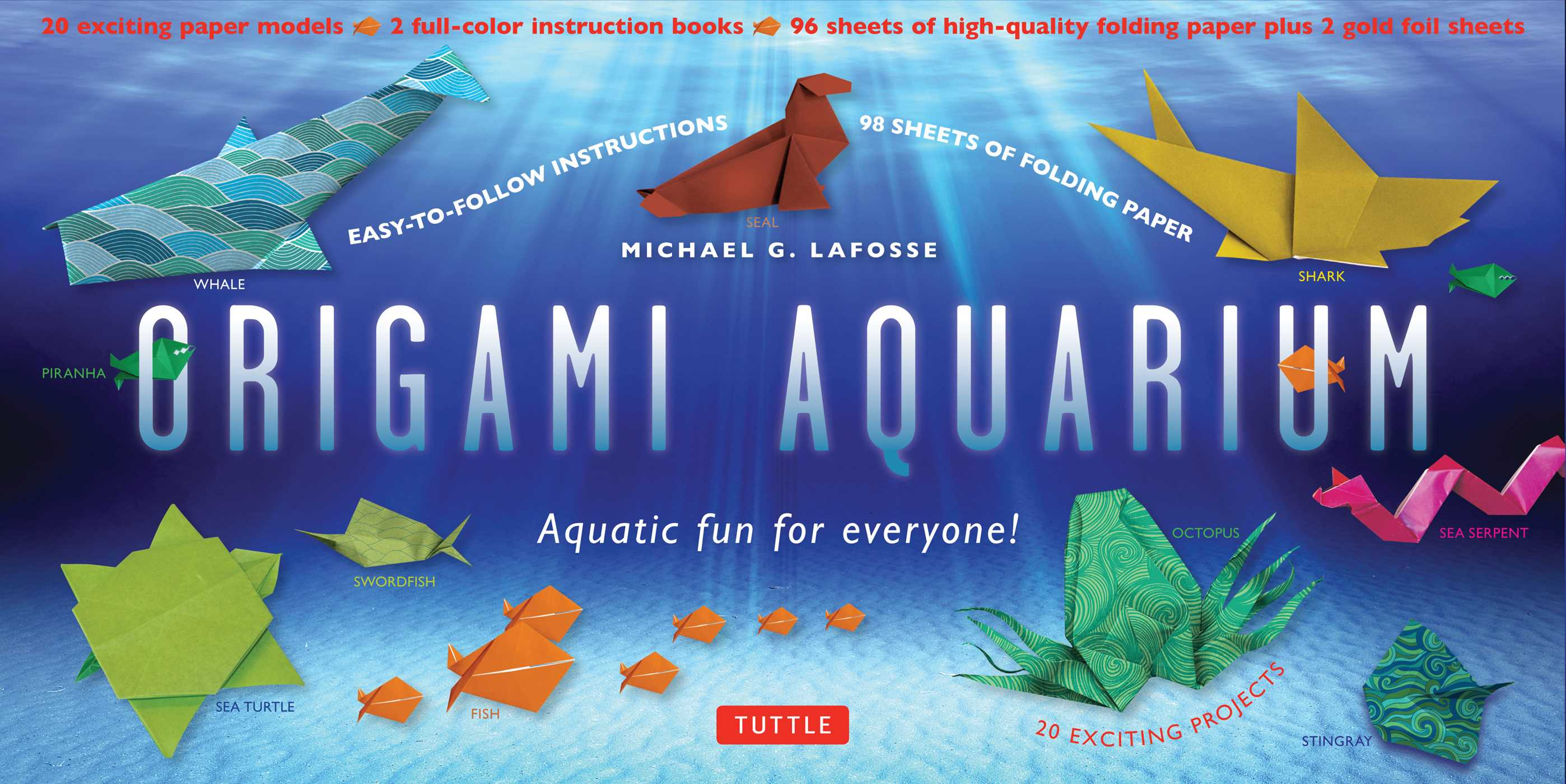 Fantastic fun book to color - Aquatic Fun For Everyone Kit With 2 Origami Books 20 Projects 98 High Quality Origami Papers Great For Kids Adults