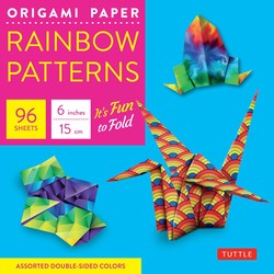 "Origami Paper - Rainbow Patterns - 6"" Size - 96 Sheets"