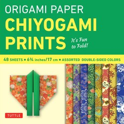 "Origami Paper - Chiyogami Prints - 6 3/4"" - 48 Sheets"