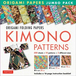 Origami Folding Papers Jumbo Pack: Kimono Patterns