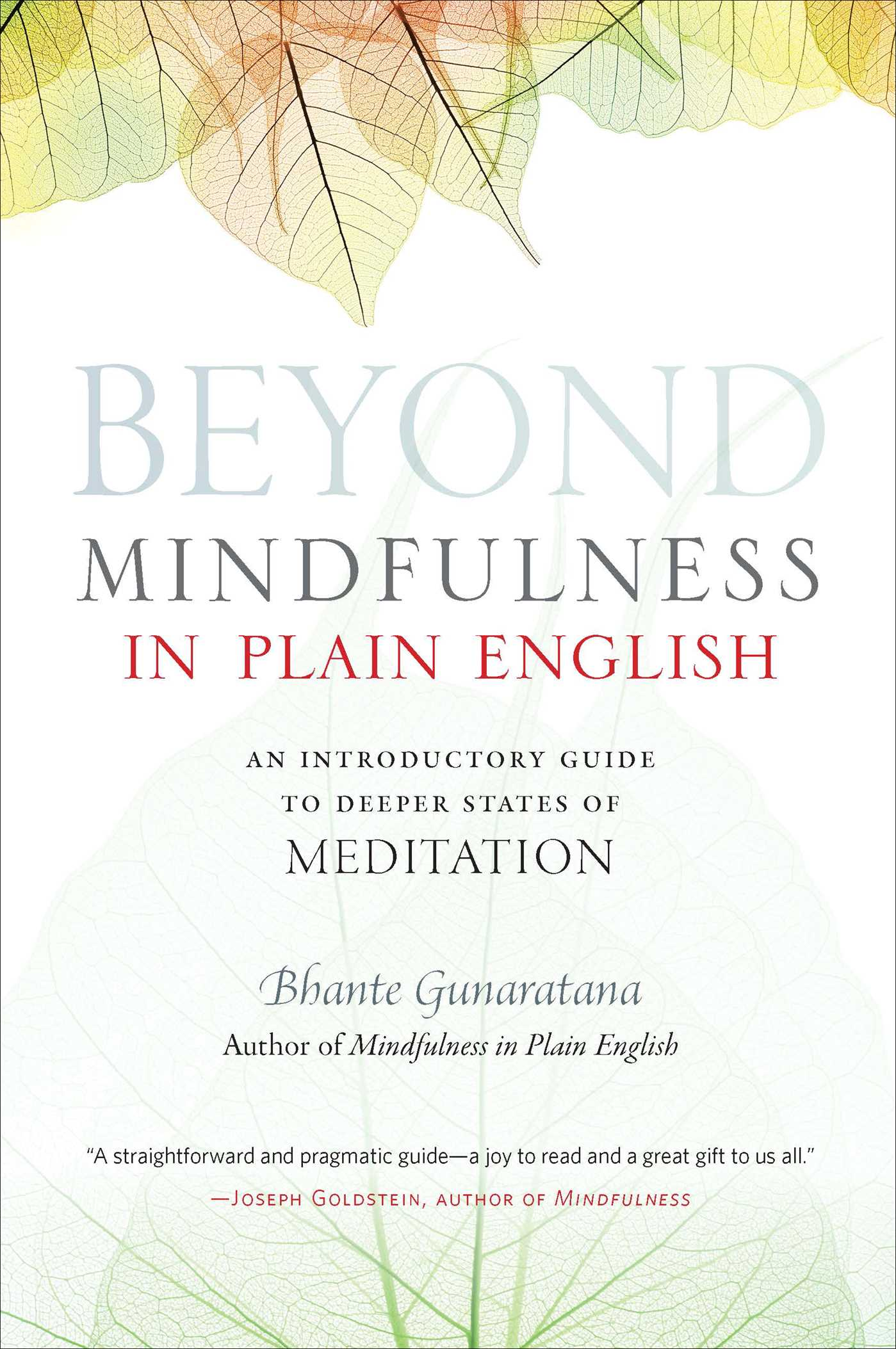 Beyond mindfulness in plain english 9780861715299 hr
