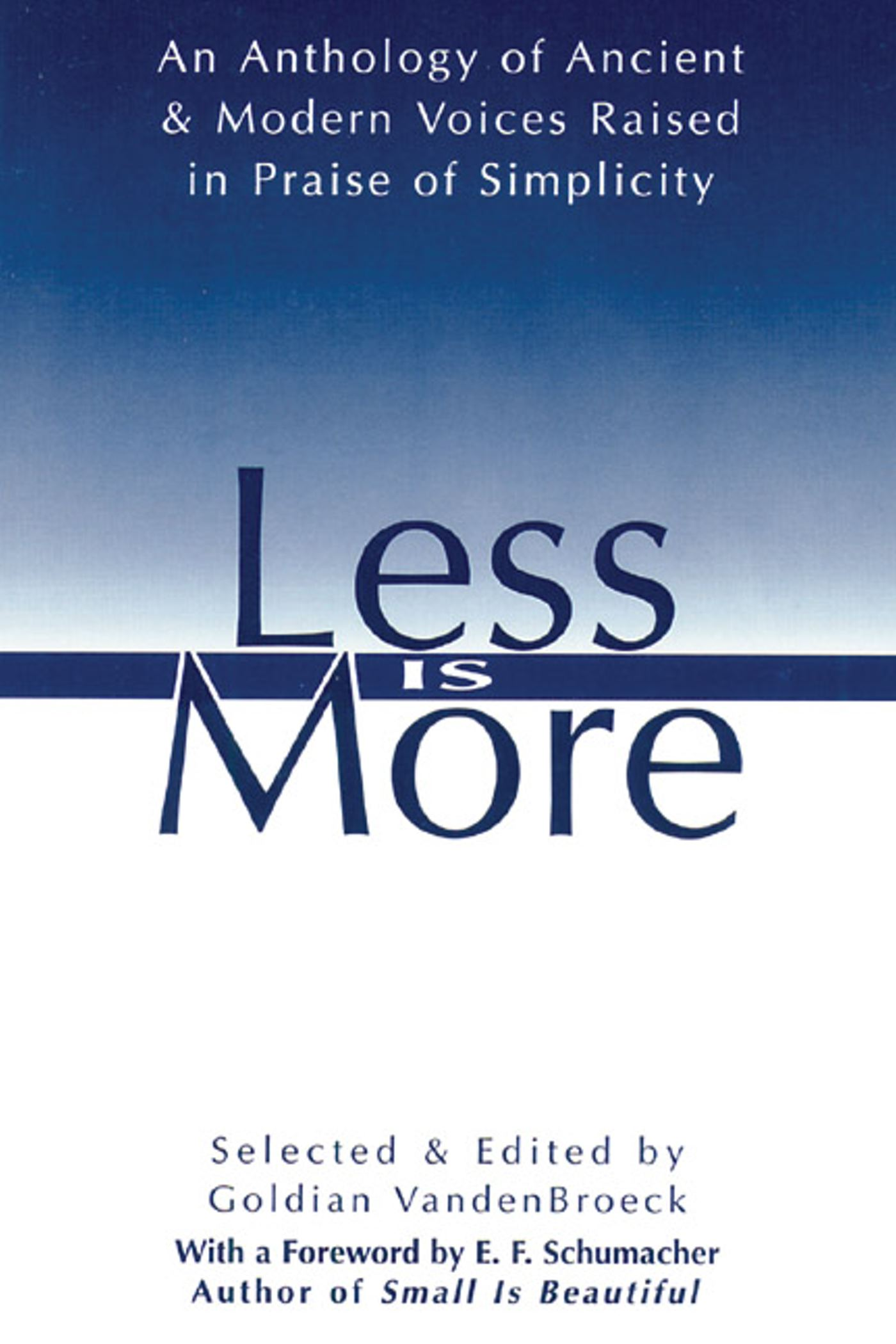 Less is more book by goldian vandenbroeck official for Less is more boek