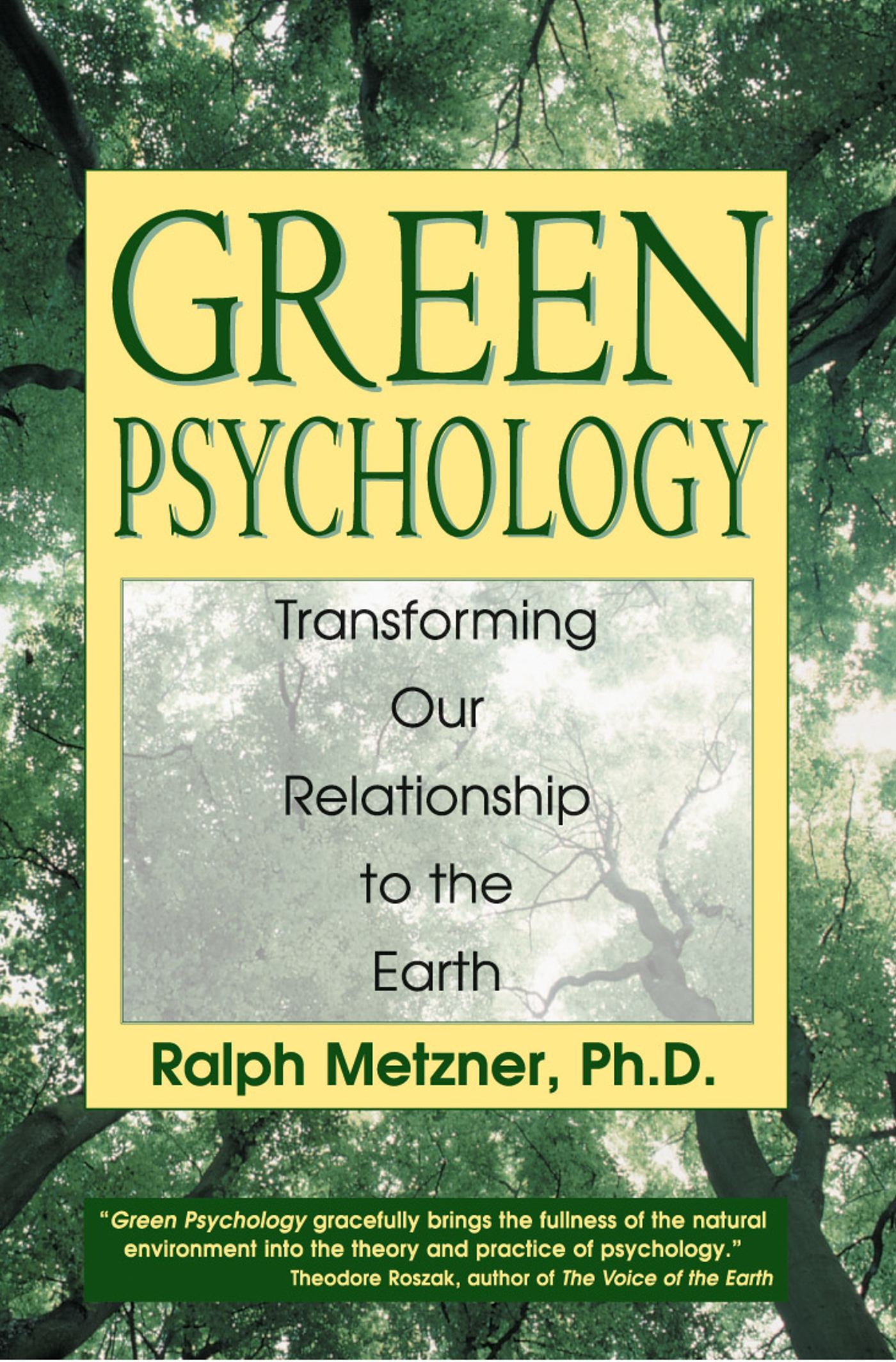 Green psychology 9780892817986 hr