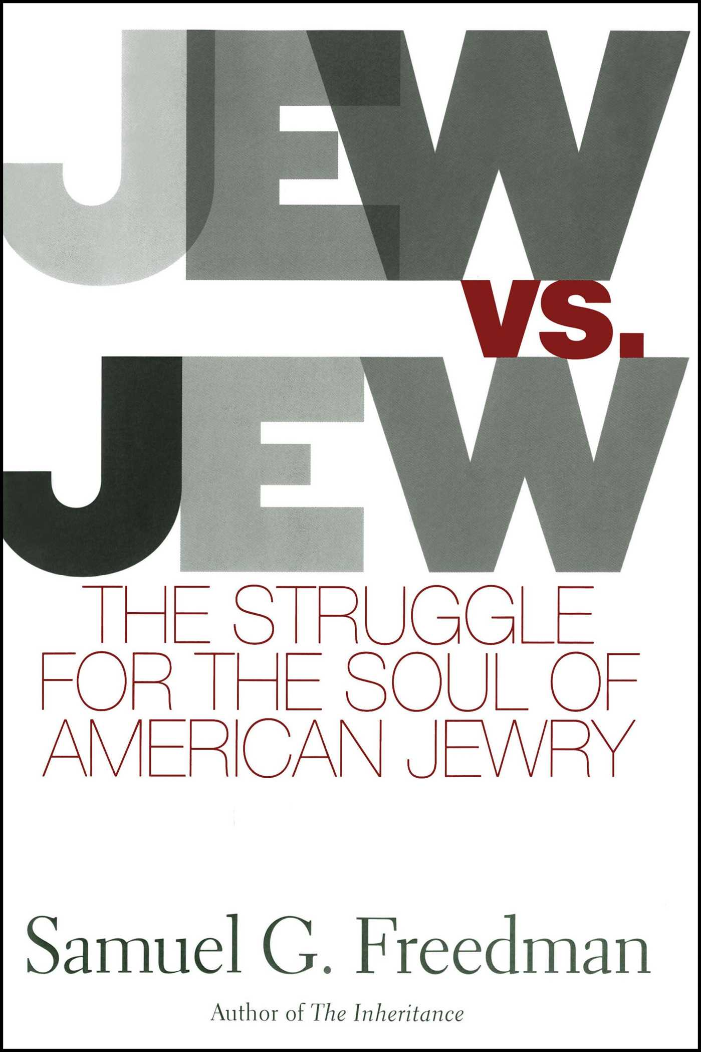 Jew vs jew 9781416578000 hr