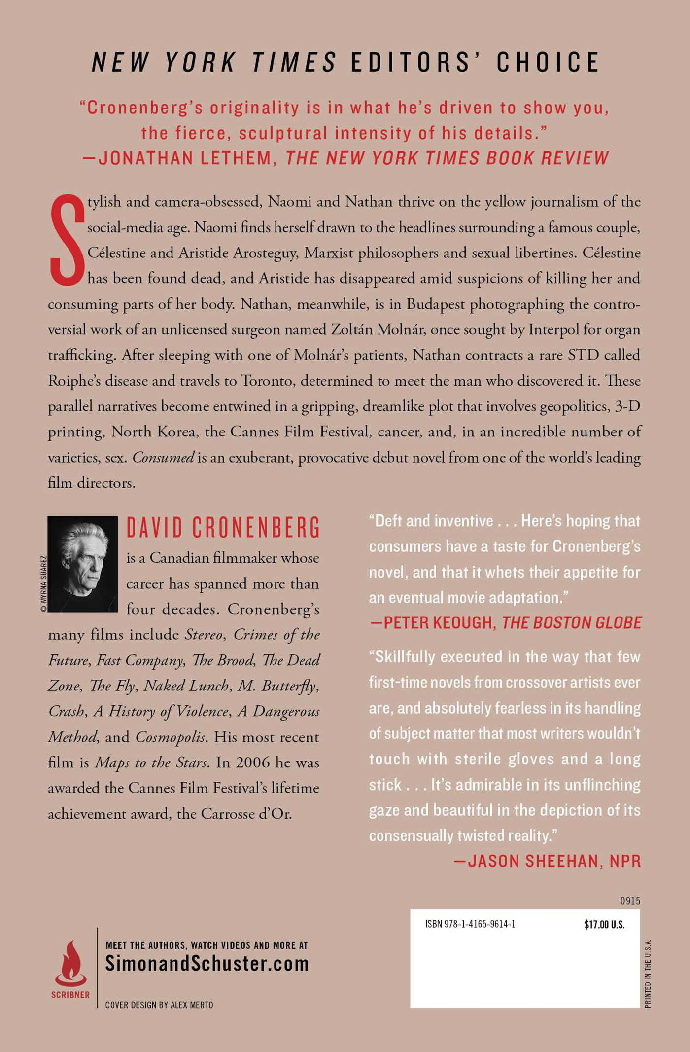 Consumed  Book by David Cronenberg  Official Publisher Page