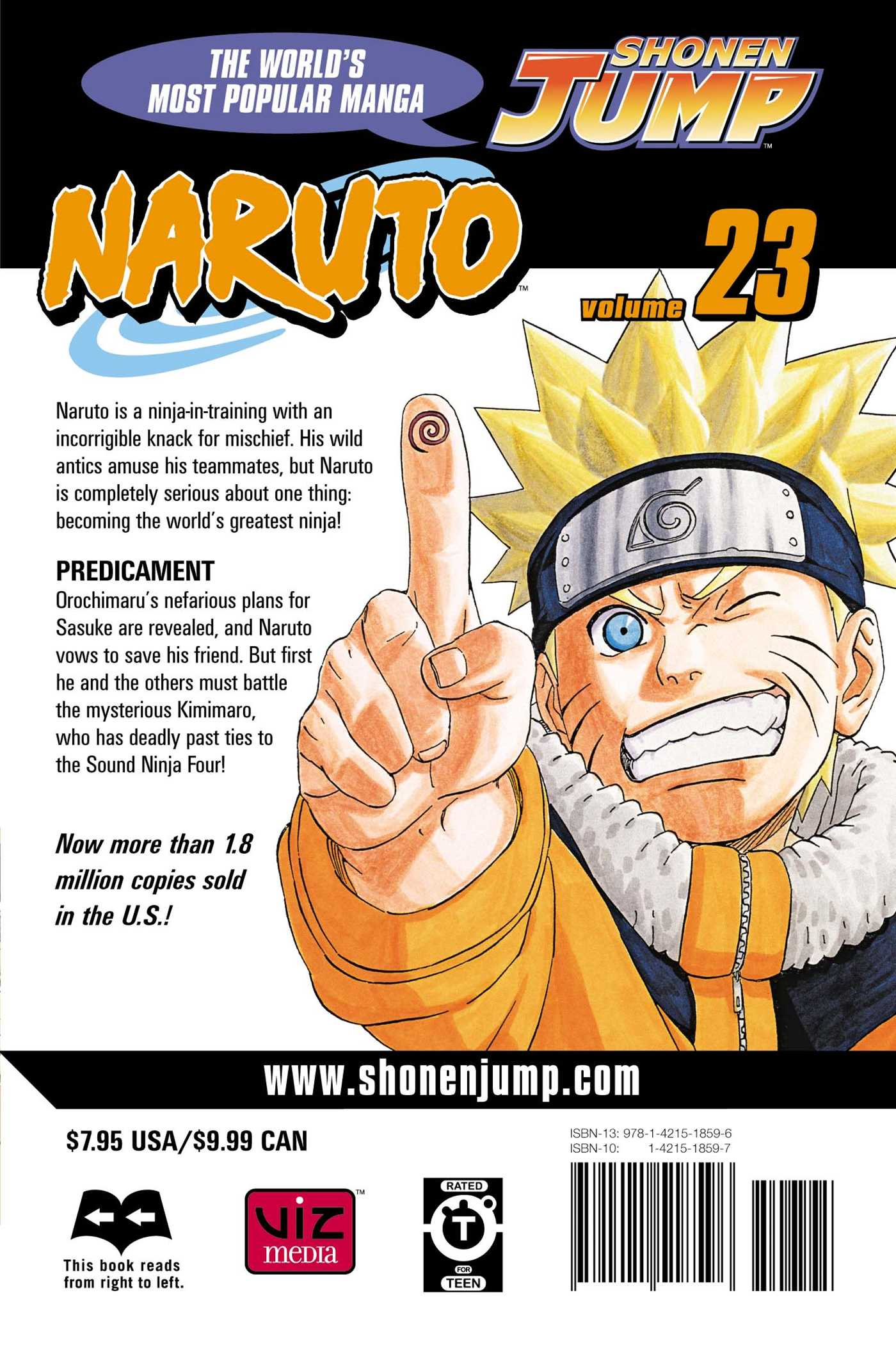 Naruto vol 23 9781421518596 hr back