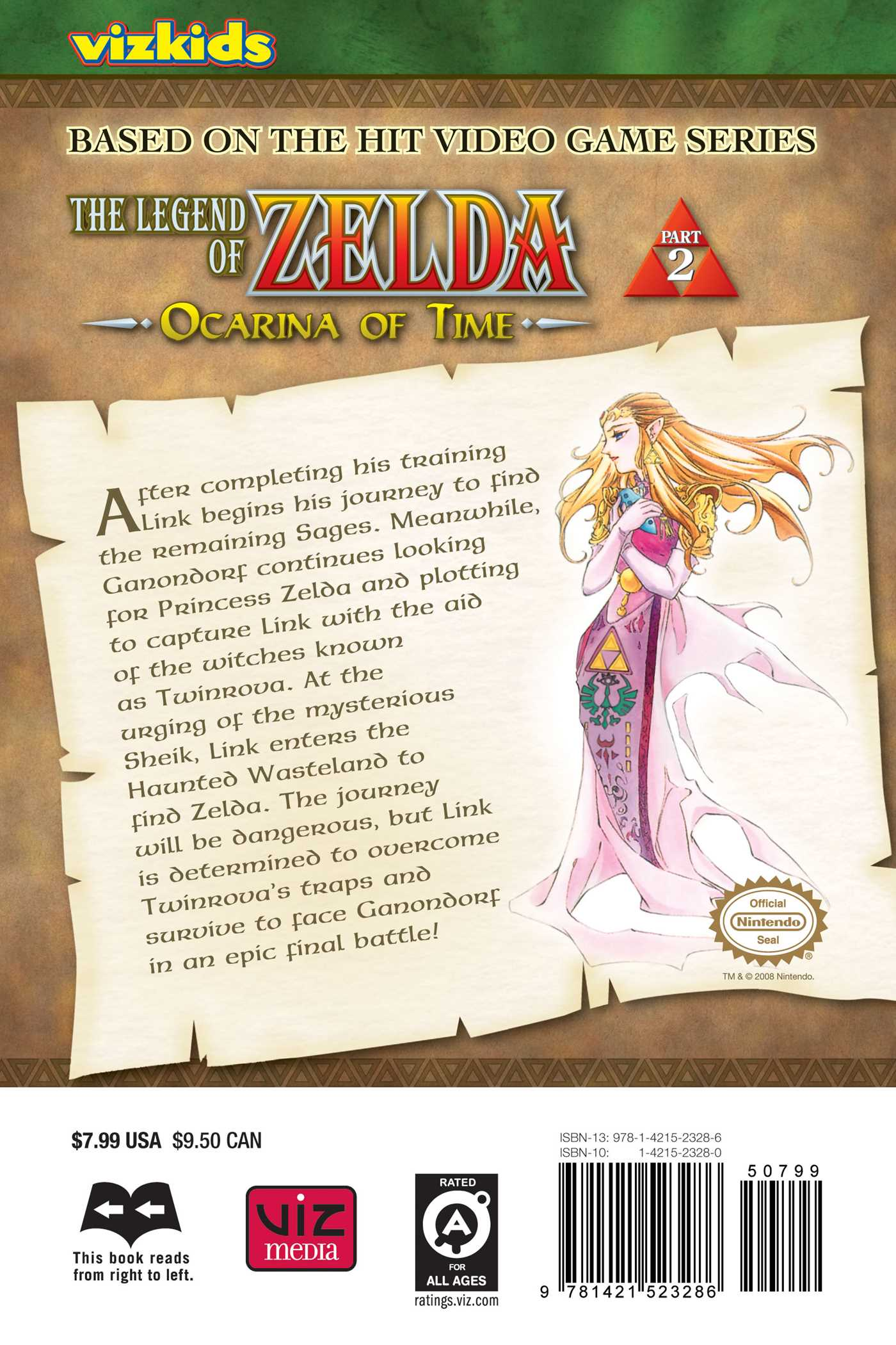 The legend of zelda vol 2 9781421523286 hr back