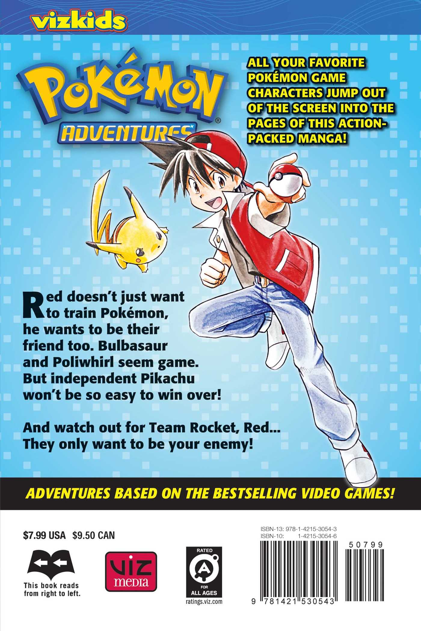 Pokemon adventures vol 1 2nd edition 9781421530543 hr back