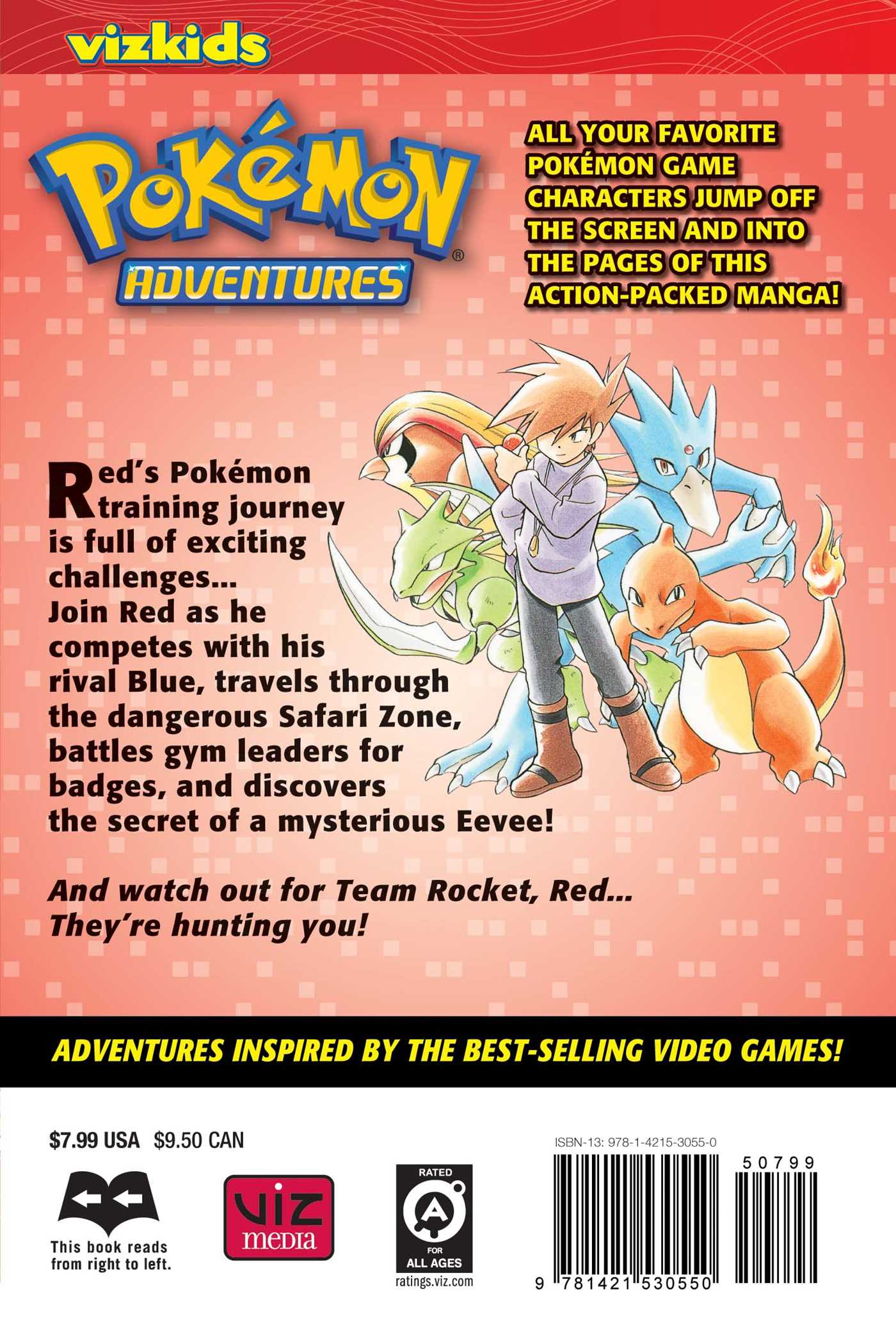 Pokemon adventures vol 2 2nd edition 9781421530550 hr back