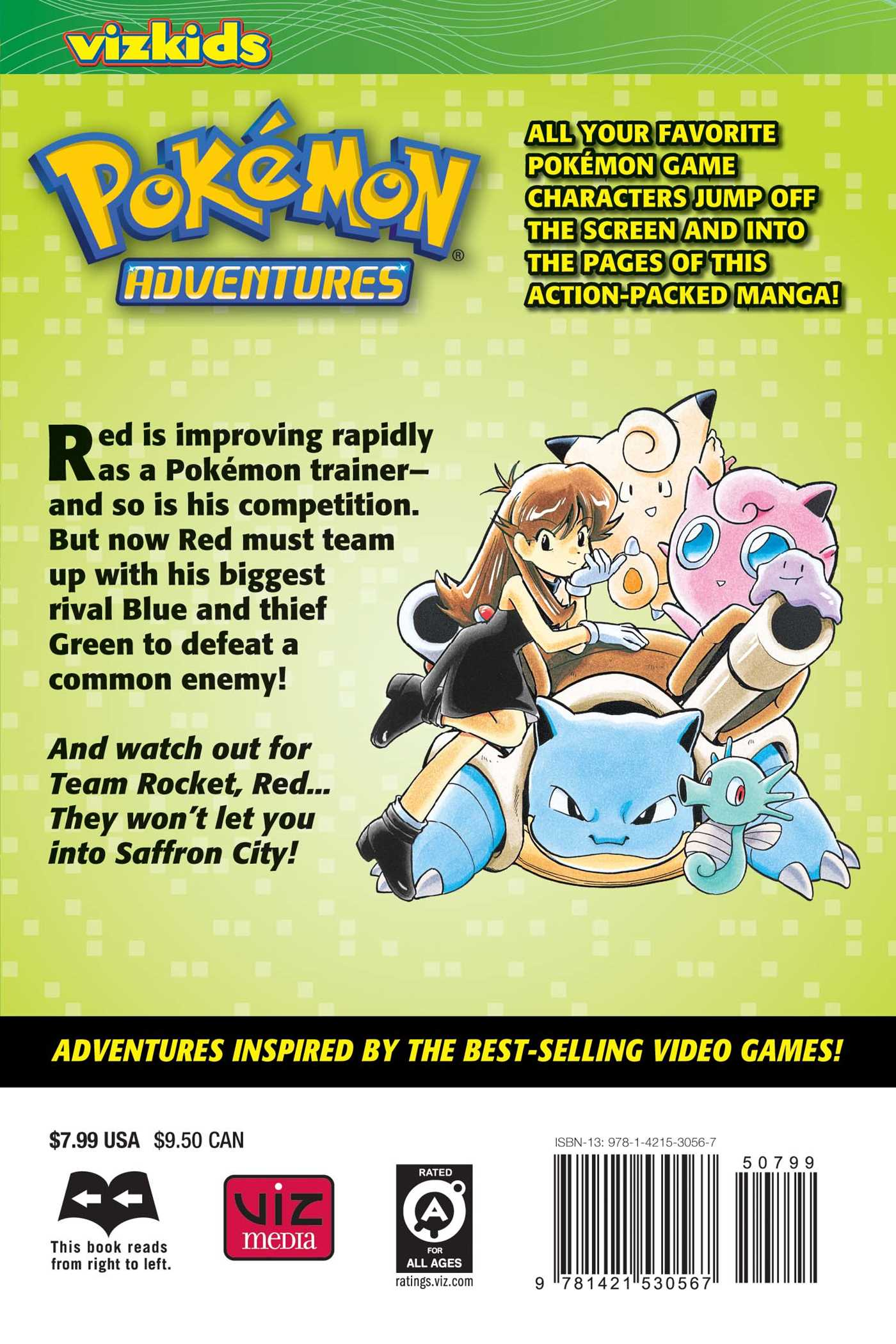 Pokemon adventures vol 3 2nd edition 9781421530567 hr back