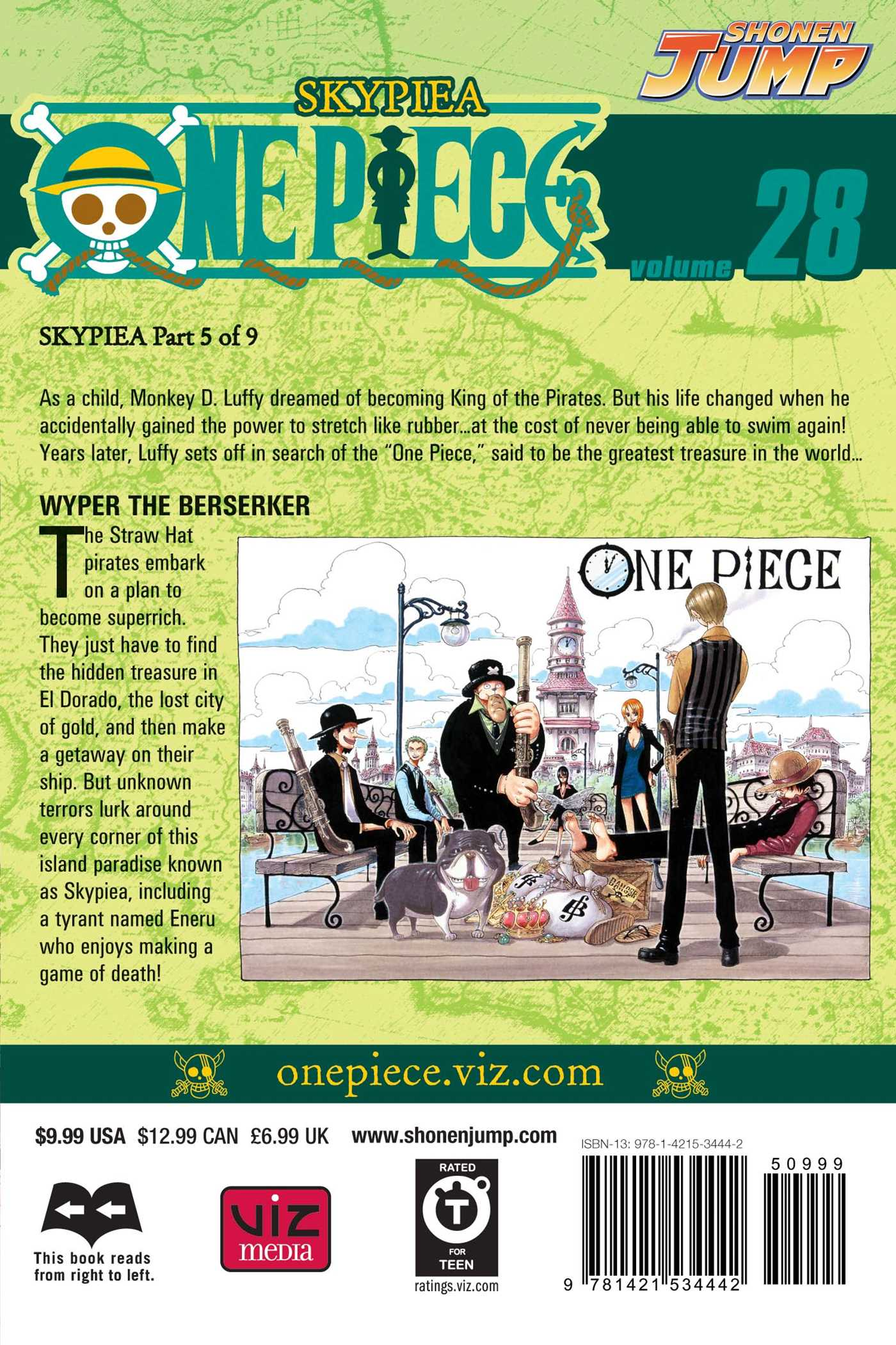 One piece vol 28 9781421534442 hr back