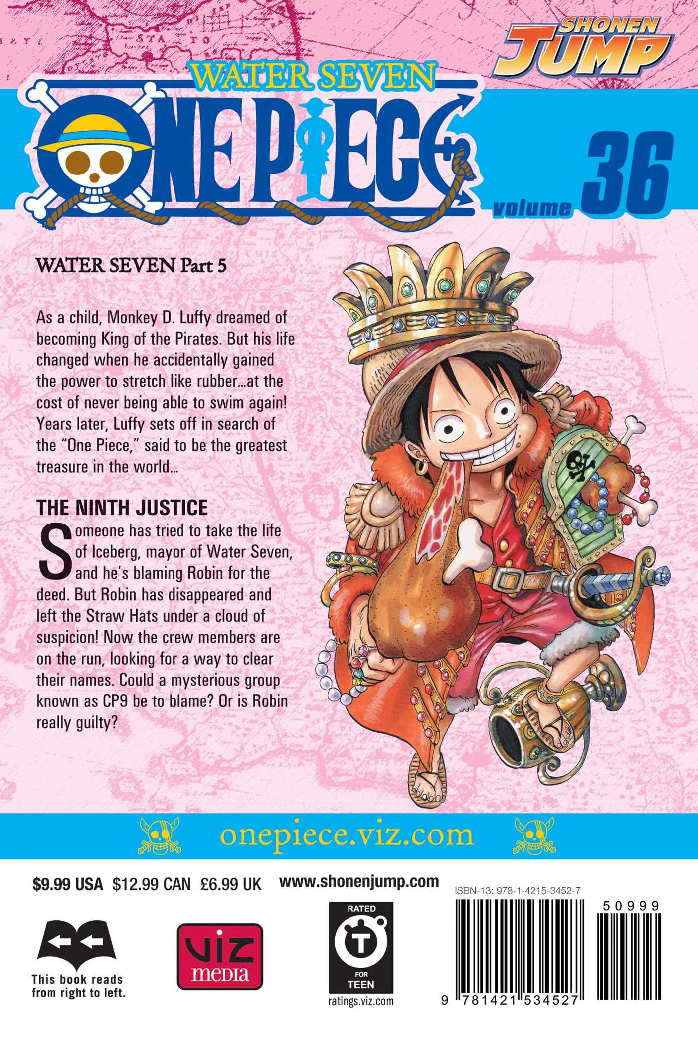 One piece vol 36 9781421534527 hr back