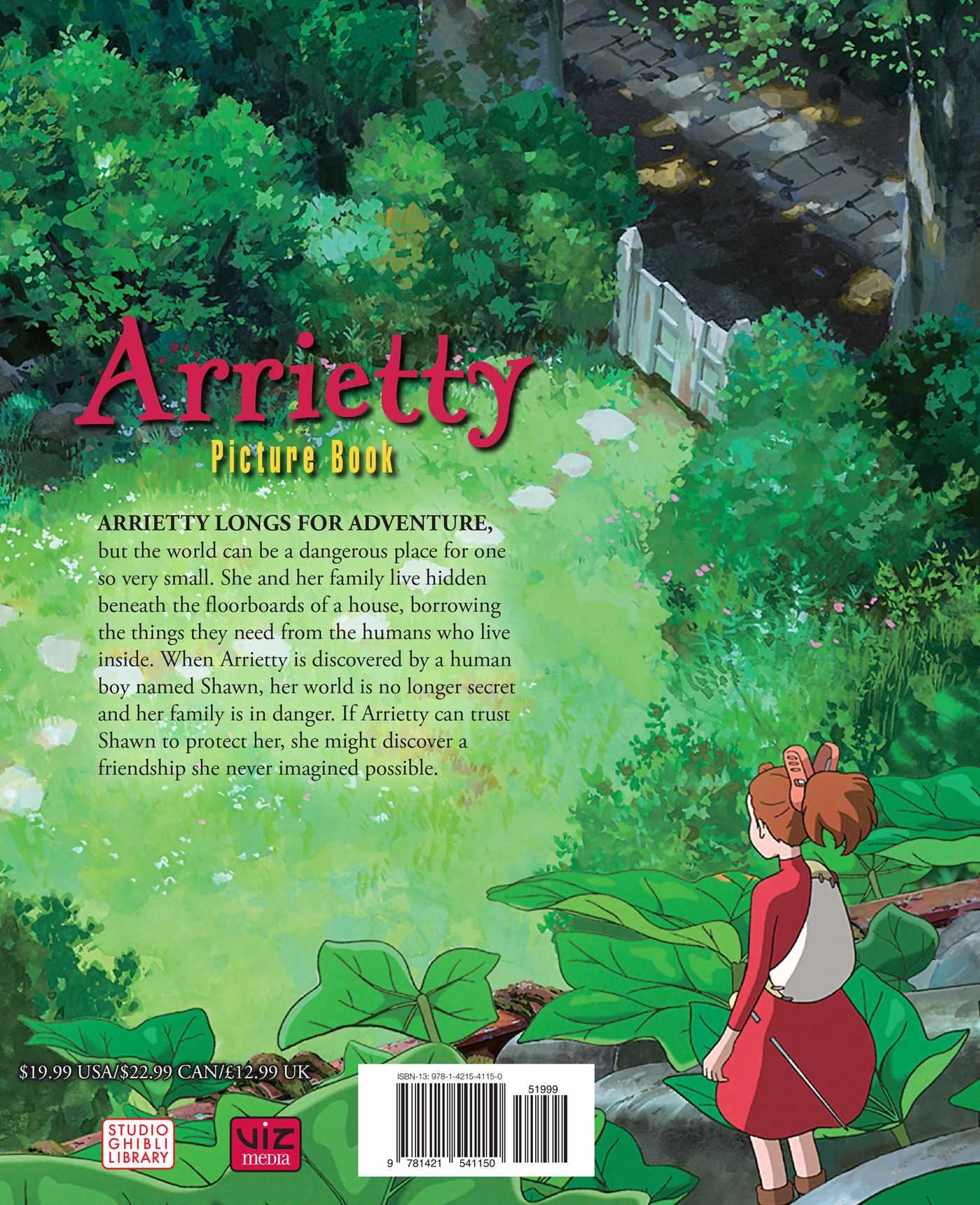 The secret world of arrietty picture book 9781421541150 hr back