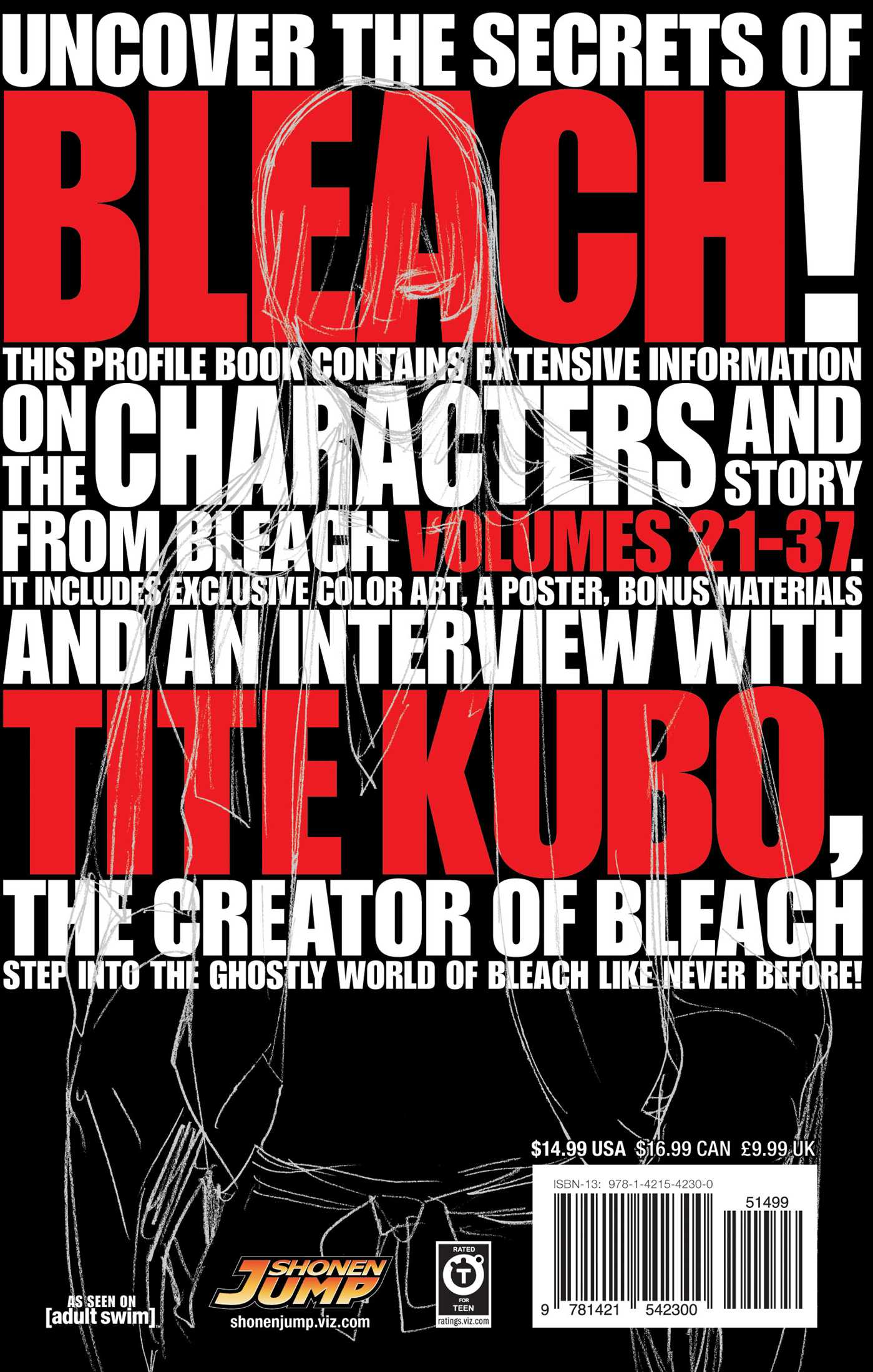 Bleach masked official character book 2 9781421542300 hr back