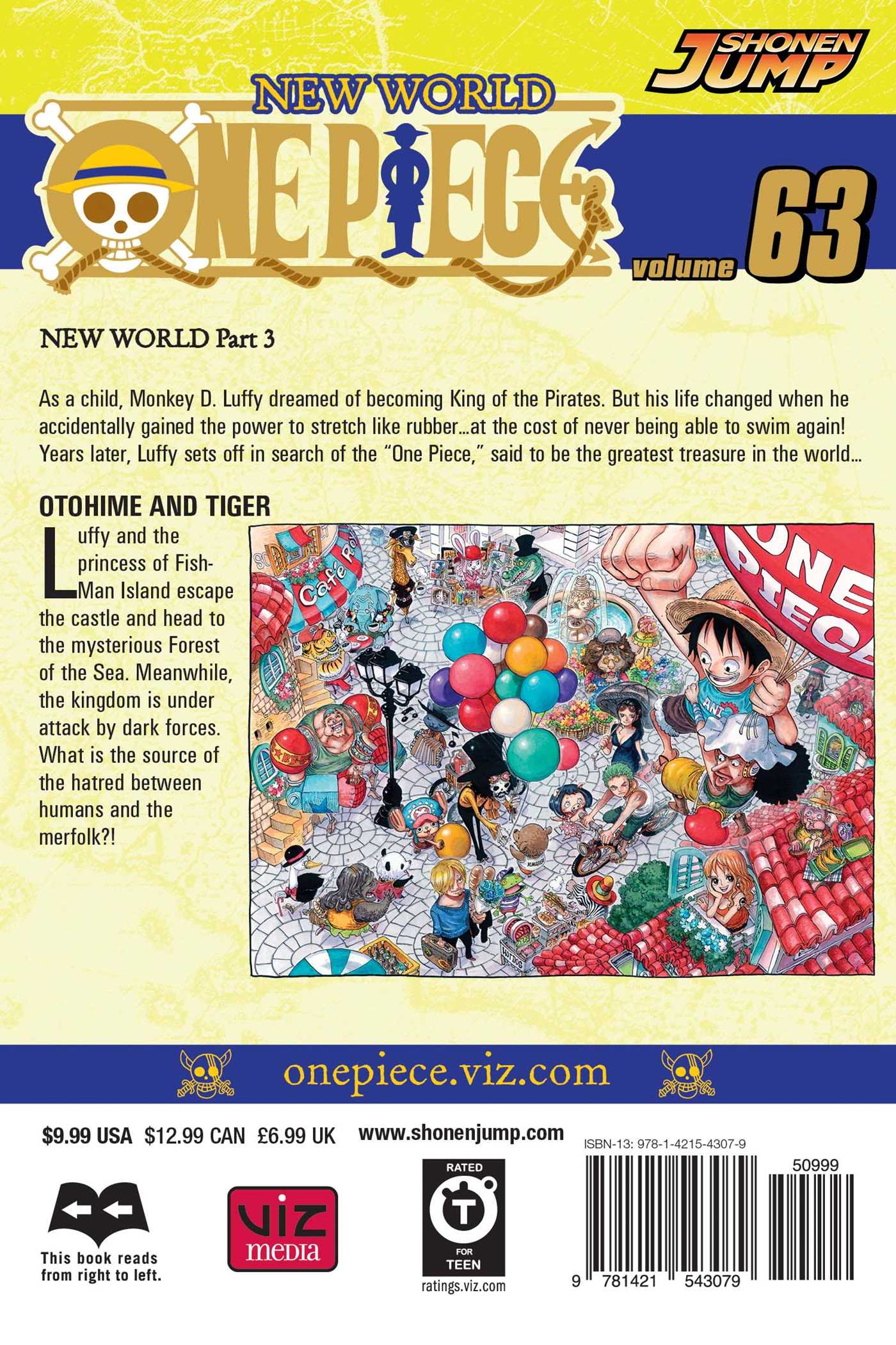 One piece vol 63 9781421543079 hr back