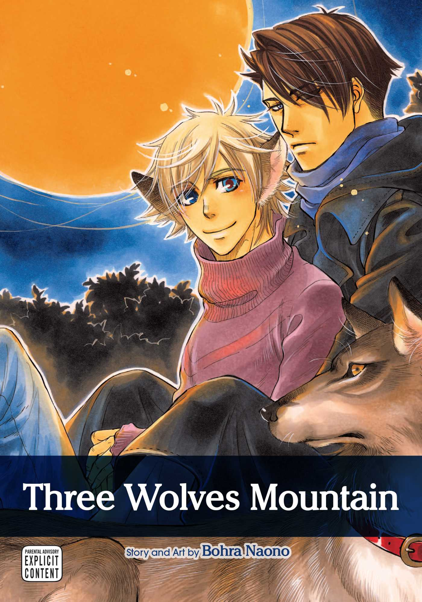Three wolves mountain yaoi manga 9781421543468 hr