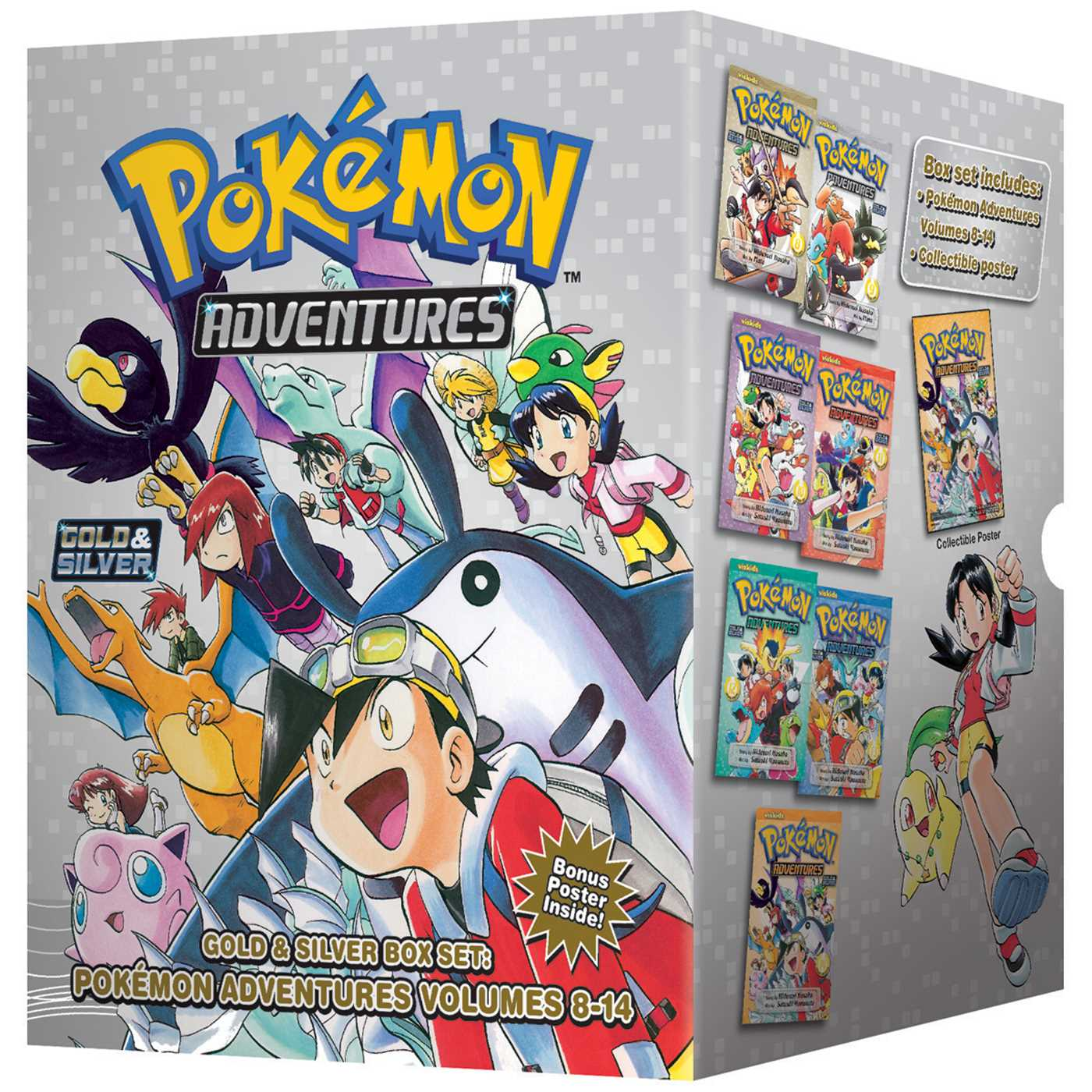 Pokemon adventures gold silver box set set includes vol 8 14 9781421550077 hr