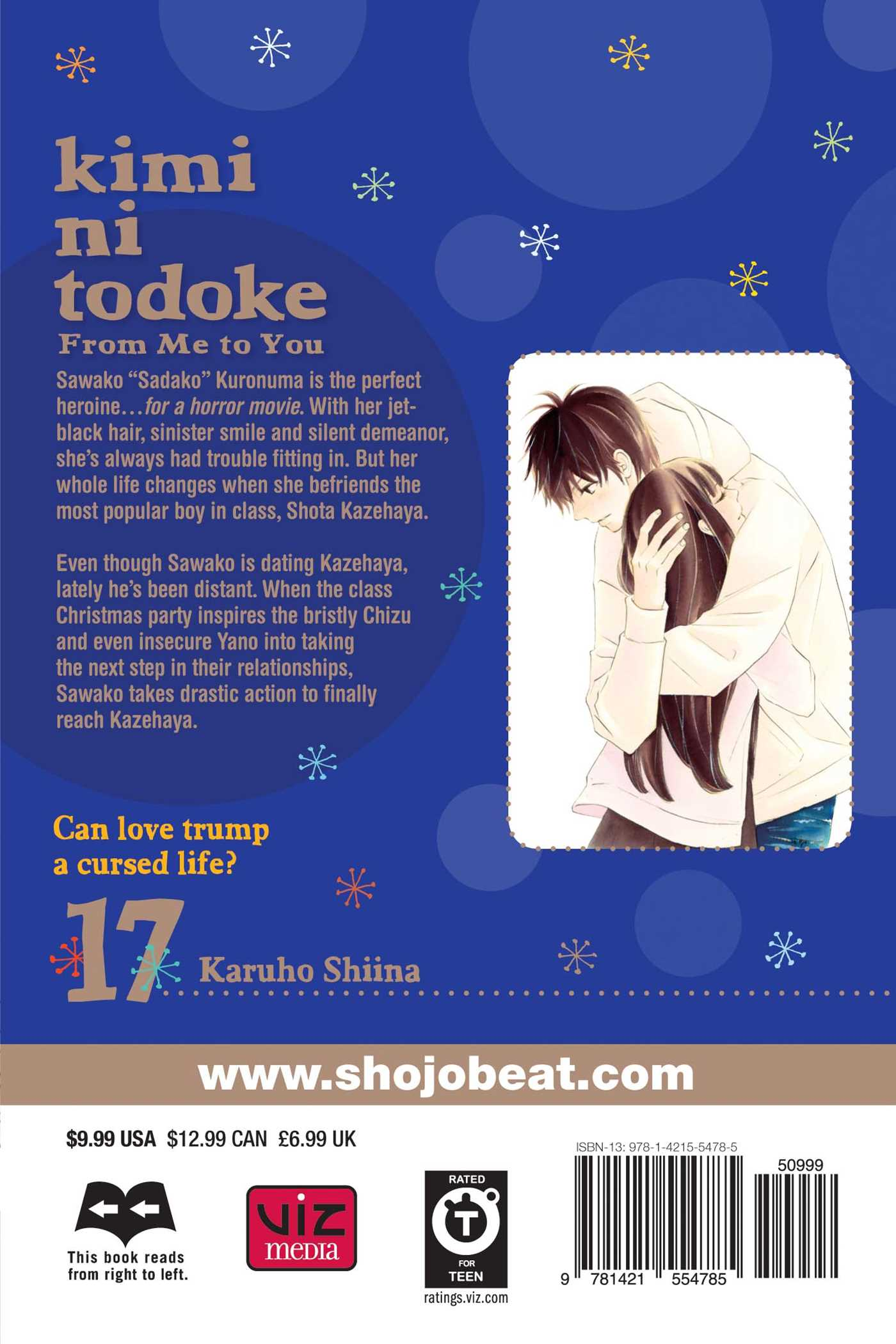 Kimi ni todoke from me to you vol 17 9781421554785 hr back