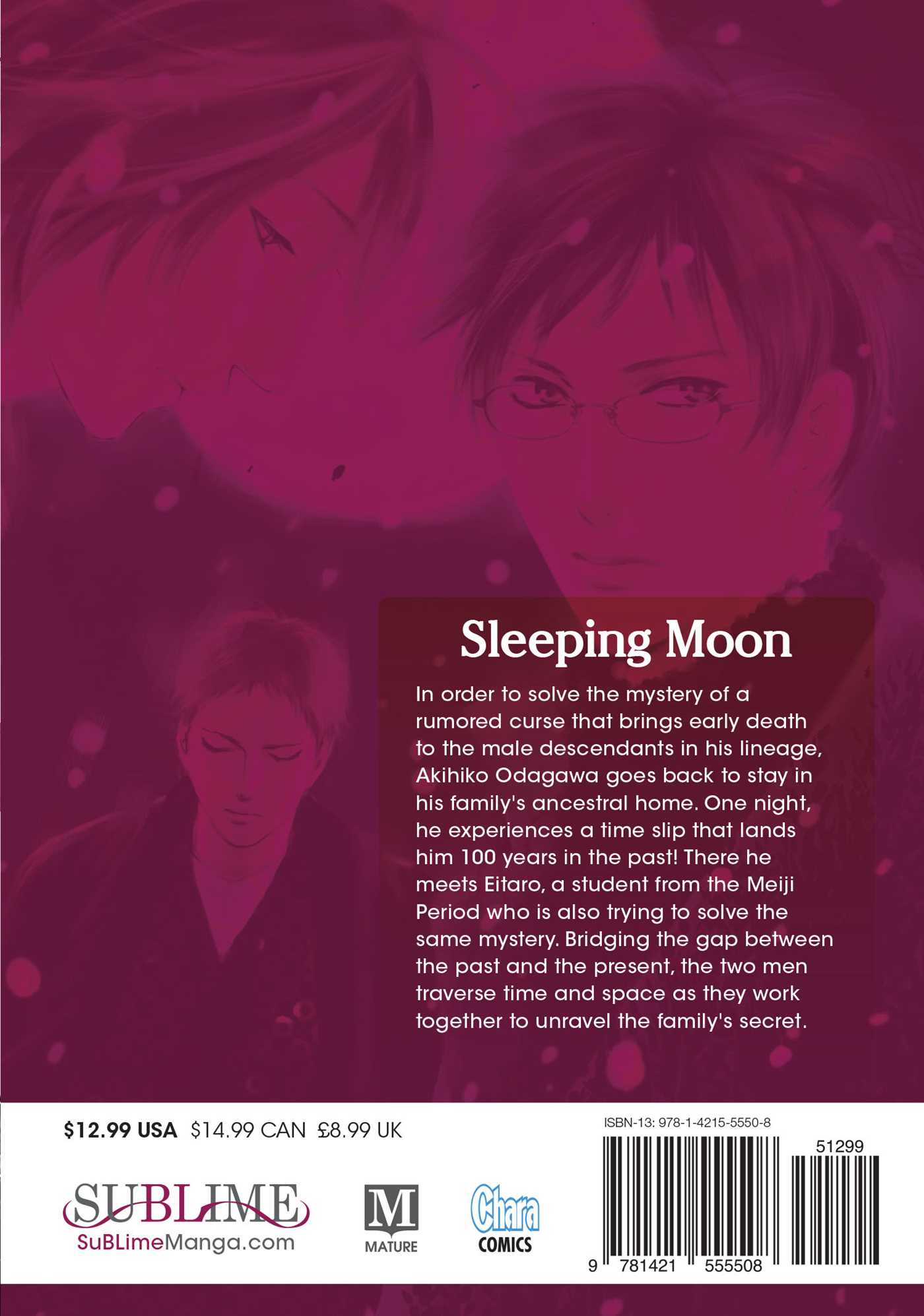 Sleeping moon vol 1 9781421555508 hr back