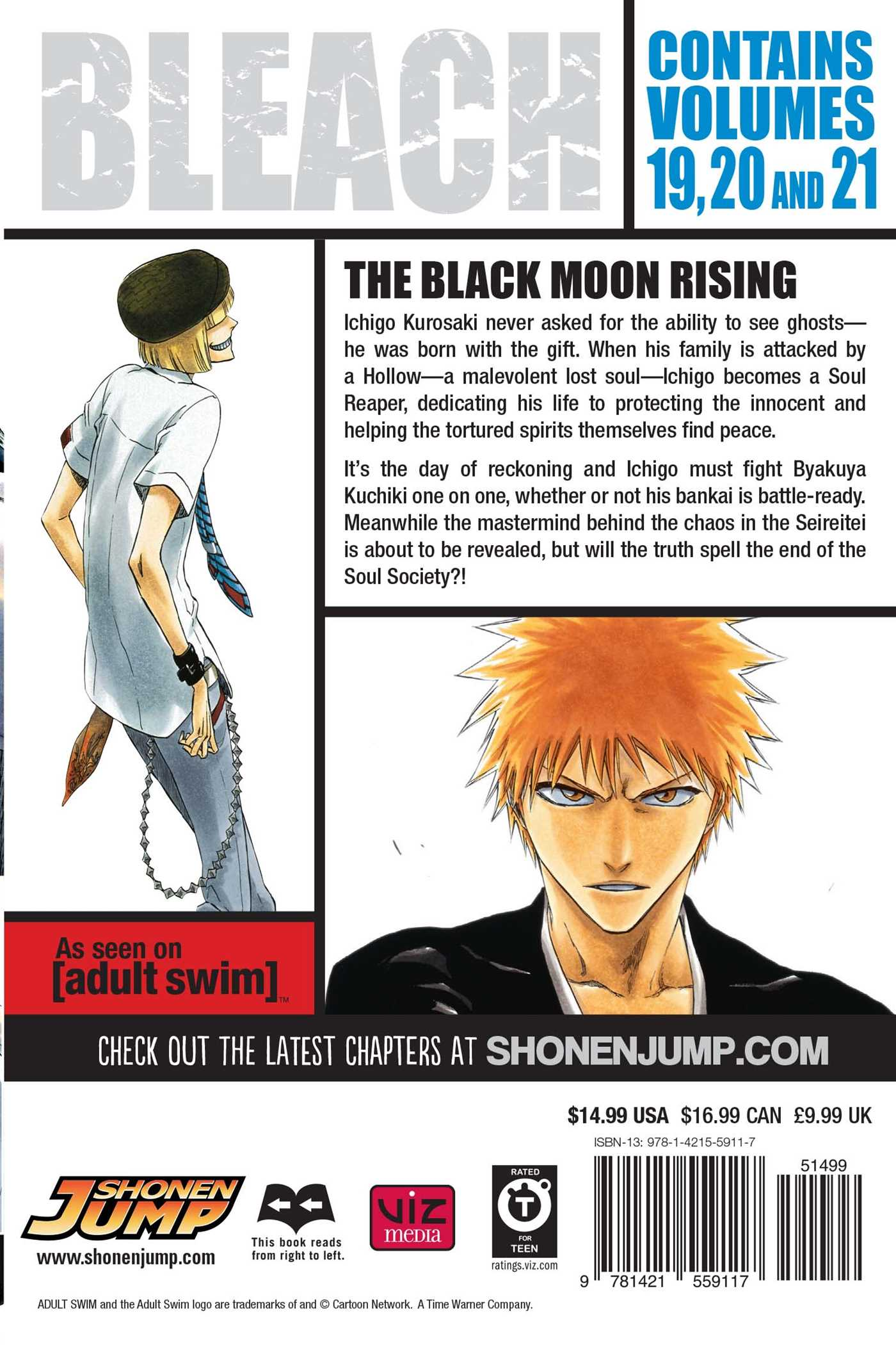 Bleach 3 in 1 edition vol 7 9781421559117 hr back