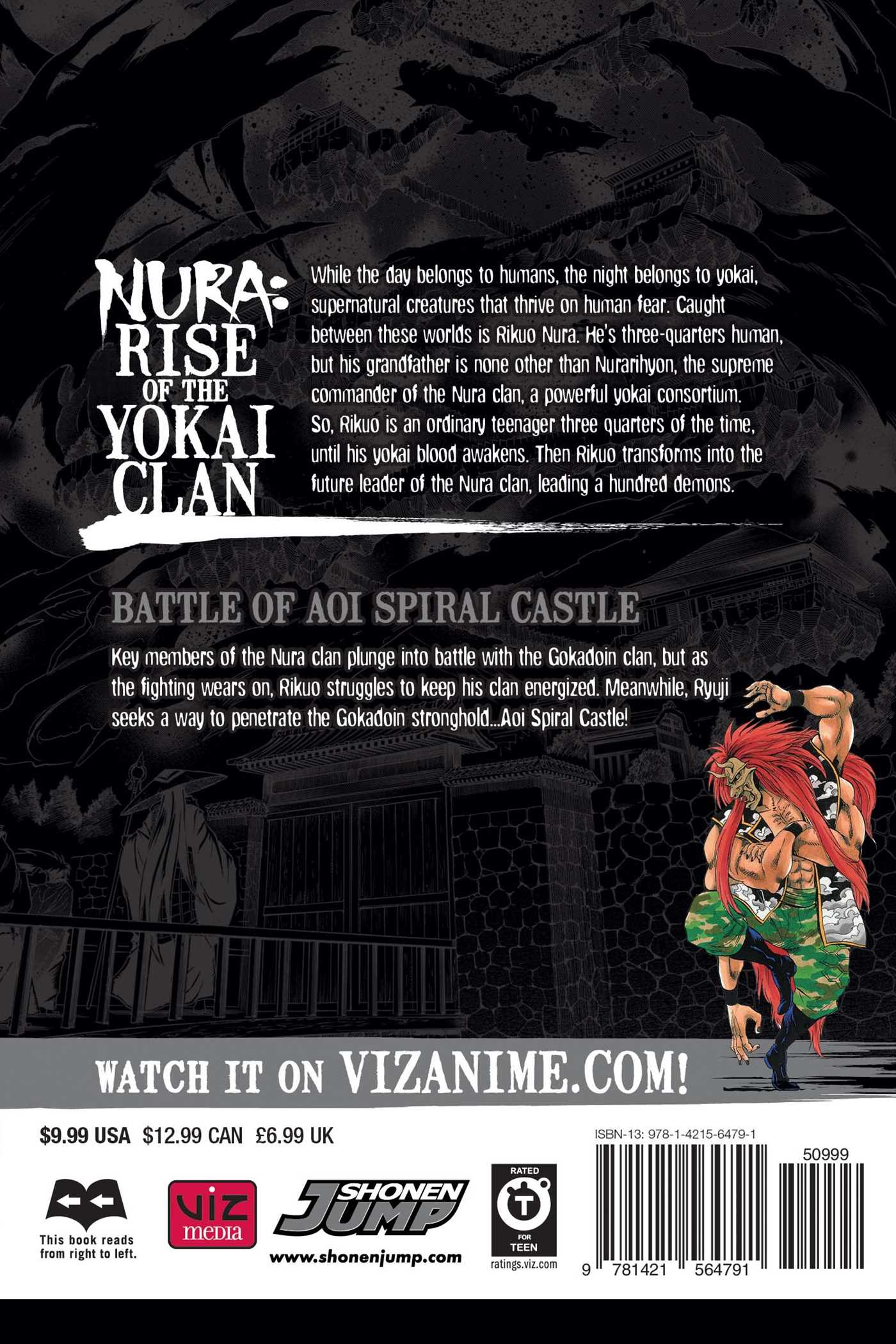 Nura rise of the yokai clan vol 24 9781421564791 hr back