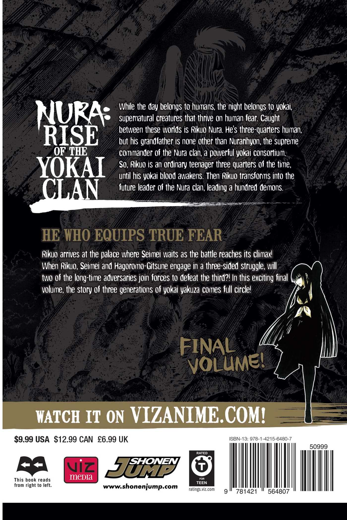 Nura rise of the yokai clan vol 25 9781421564807 hr back