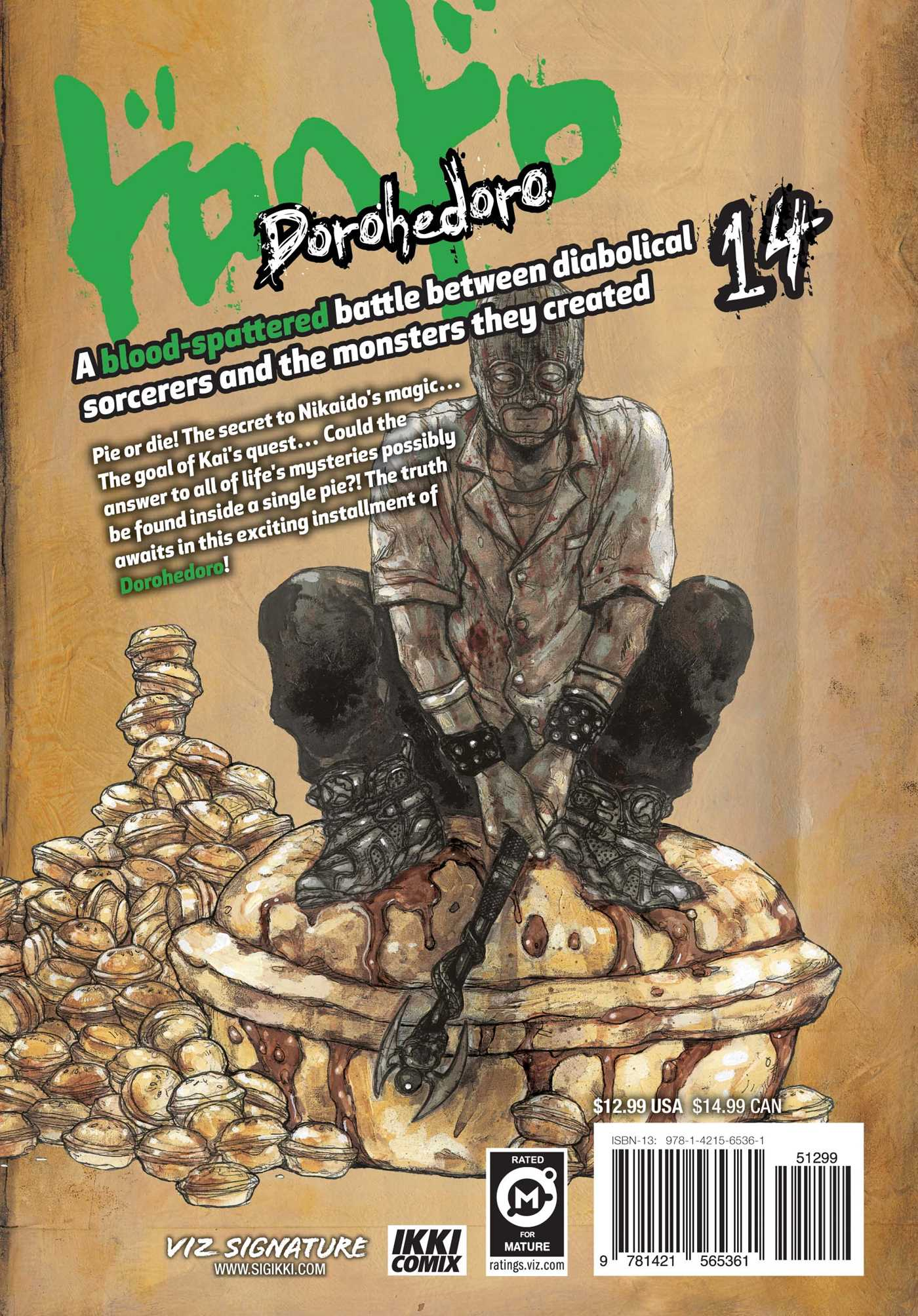 Dorohedoro vol 14 9781421565361 hr back