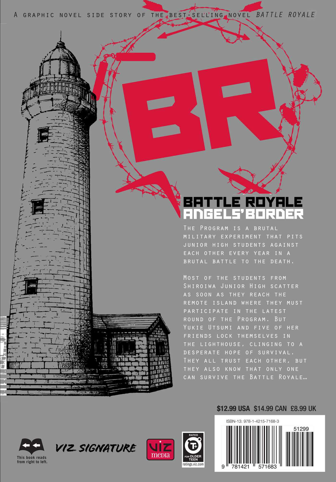 Battle royale angels border 9781421571683 hr back