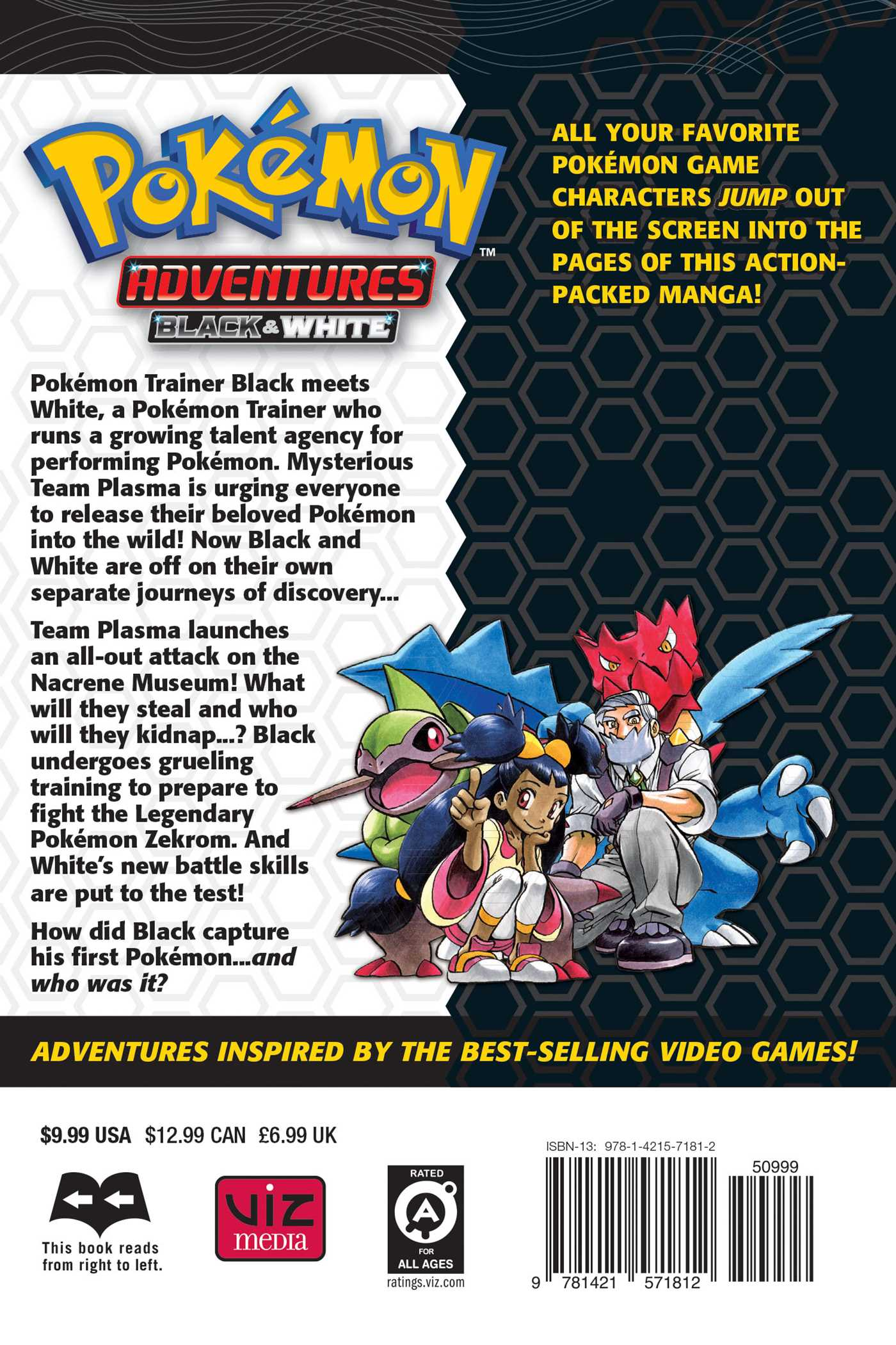 Pokemon adventures black and white vol 6 9781421571812 hr back