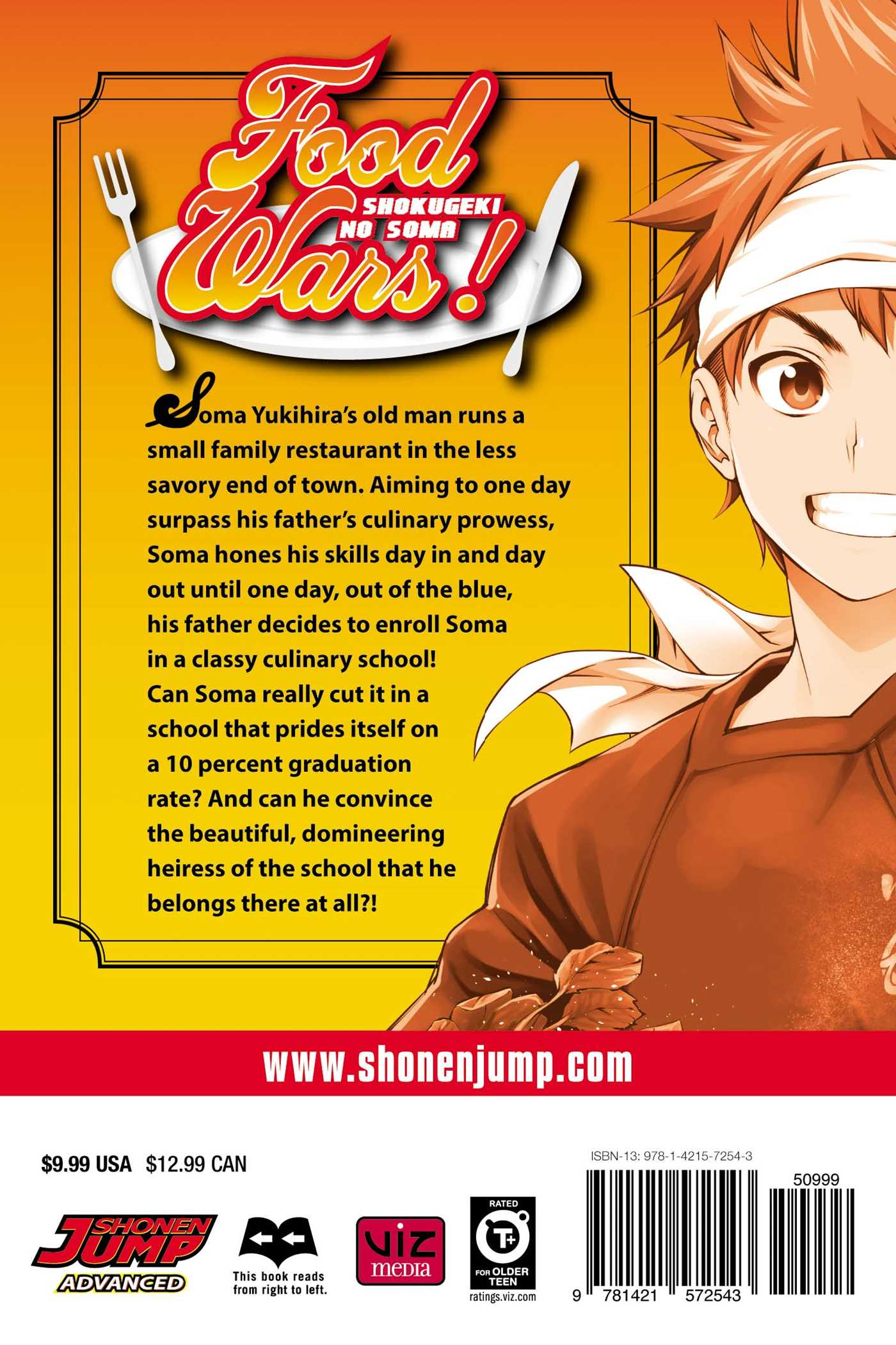 Food wars vol 1 9781421572543 hr back