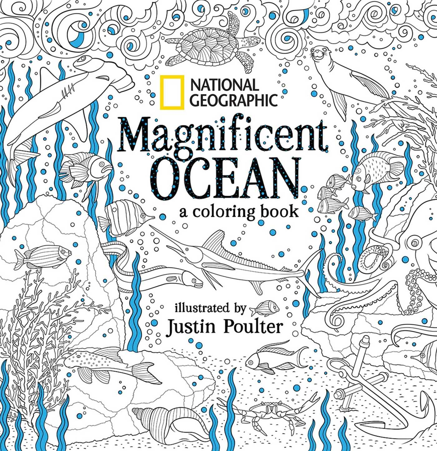 Book Cover Image Jpg National Geographic Magnificent Ocean A Coloring