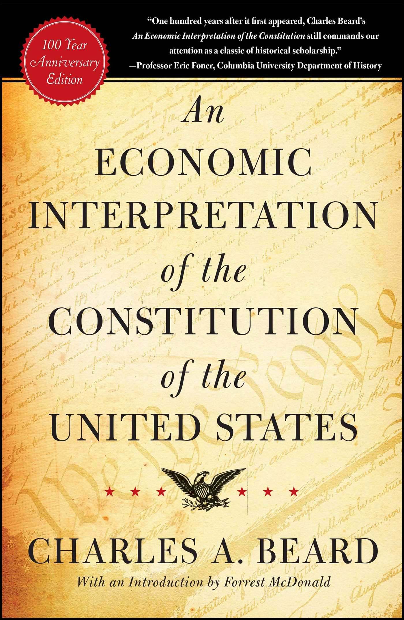 charles a beard an economic interpretation of the constitution thesis