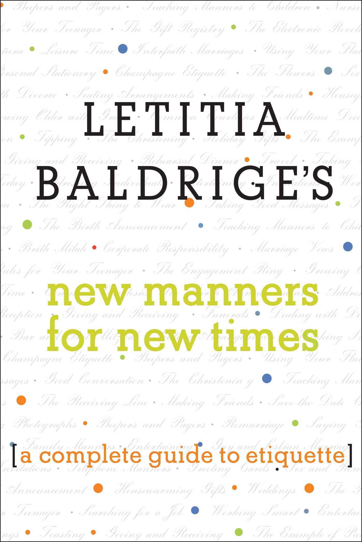 Letitia baldriges new manners for new times 9781439188545 hr