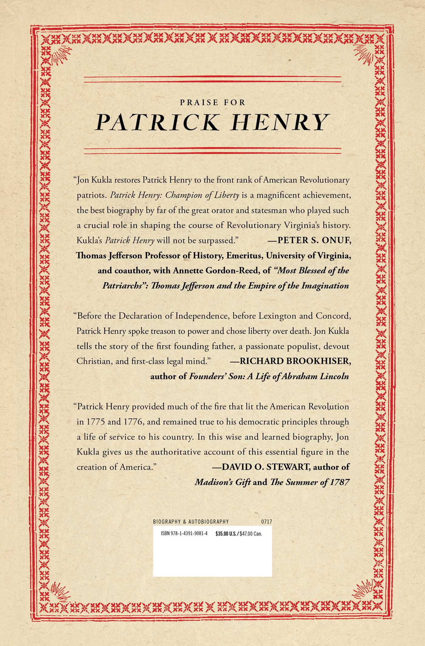 Patrick henry book by jon kukla official publisher page champion of liberty fandeluxe PDF
