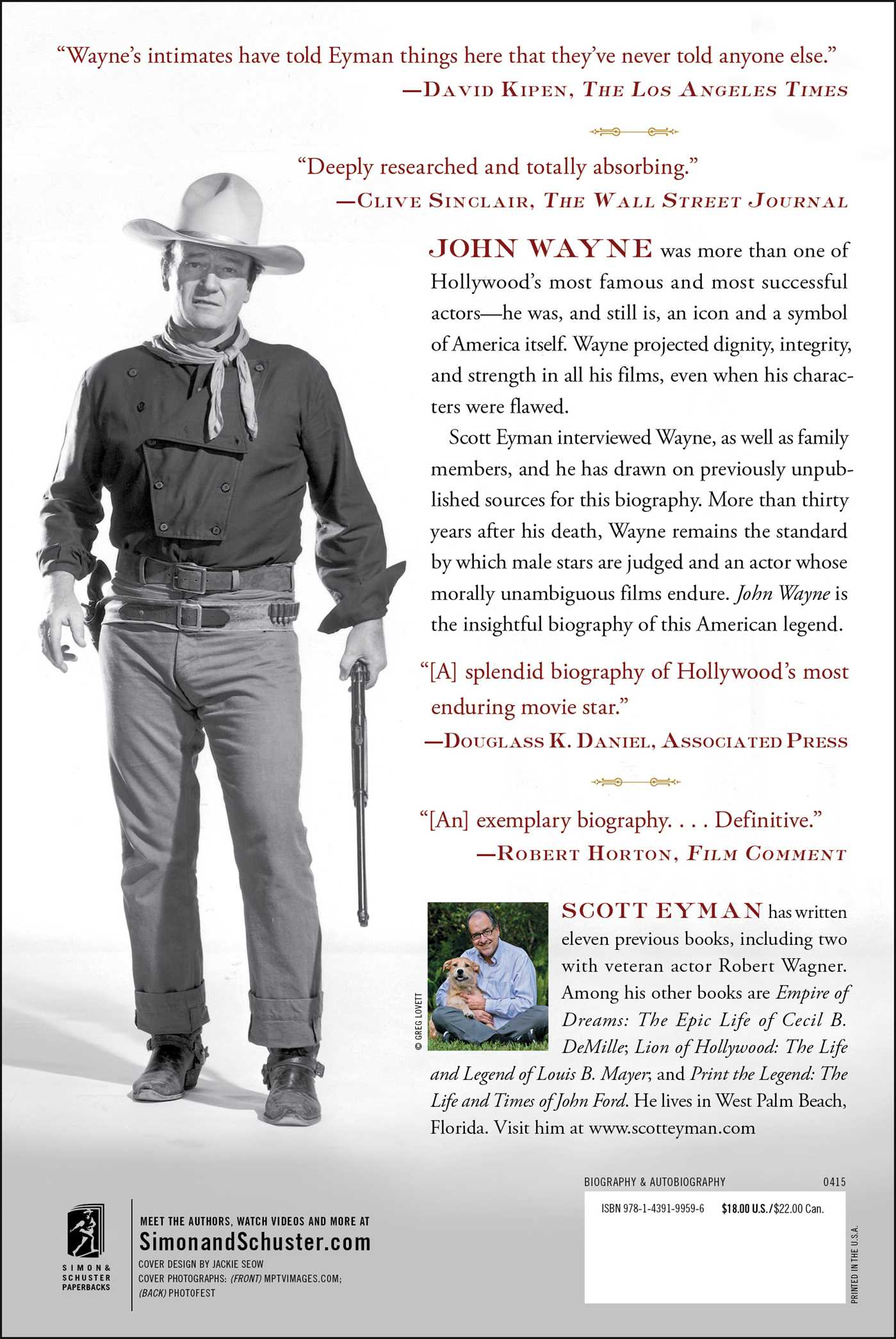 John wayne the life and legend 9781439199596 hr back