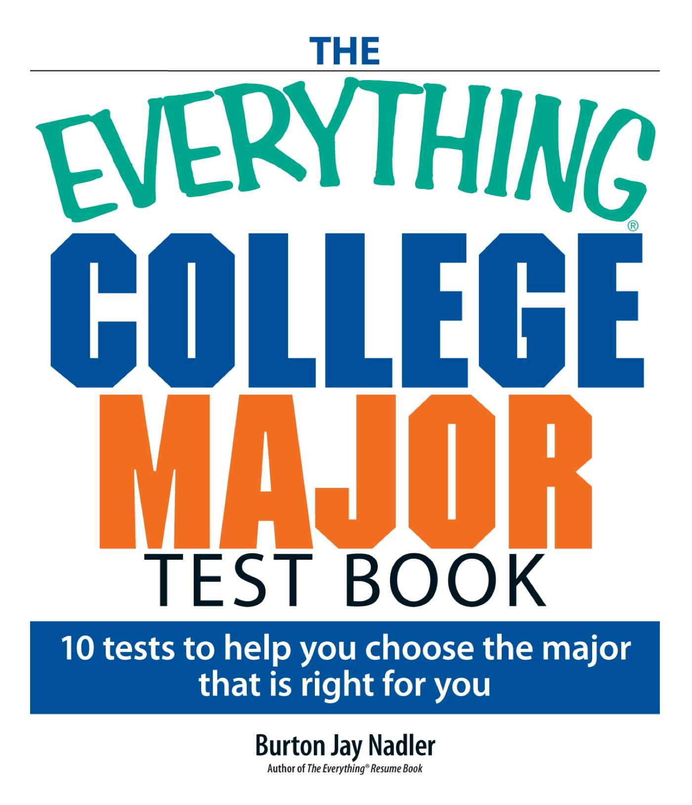 the everything college major test book ebook by burton jay nadler the everything college major test book 9781440523830 hr