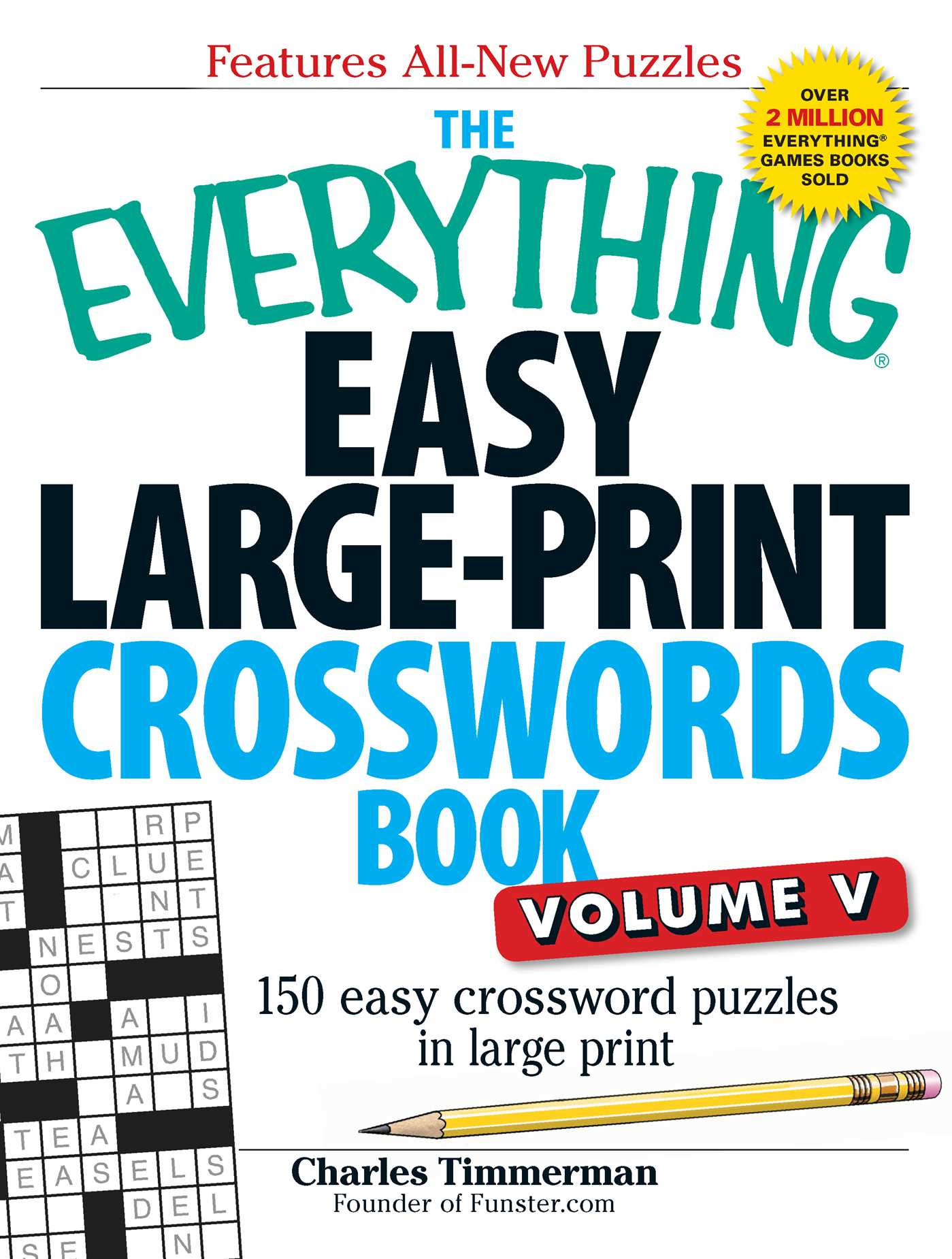 The everything easy large print crosswords book volume v 9781440559938 hr