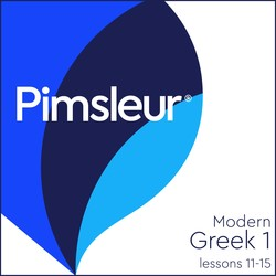 Pimsleur Greek (Modern) Level 1 Lessons 11-15 MP3