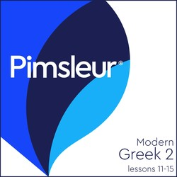Pimsleur Greek (Modern) Level 2 Lessons 11-15 MP3