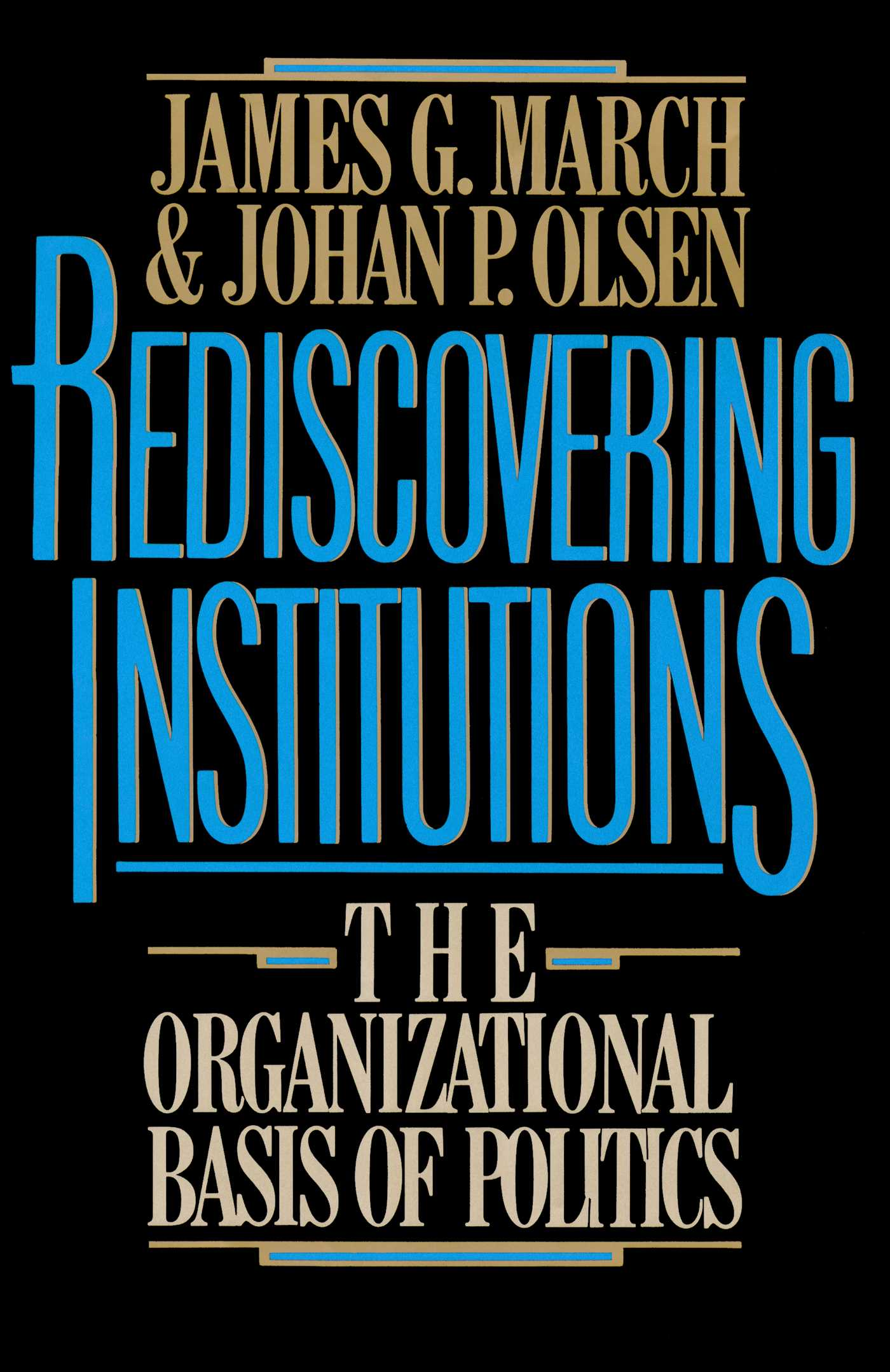 Rediscovering institutions 9781451602401 hr