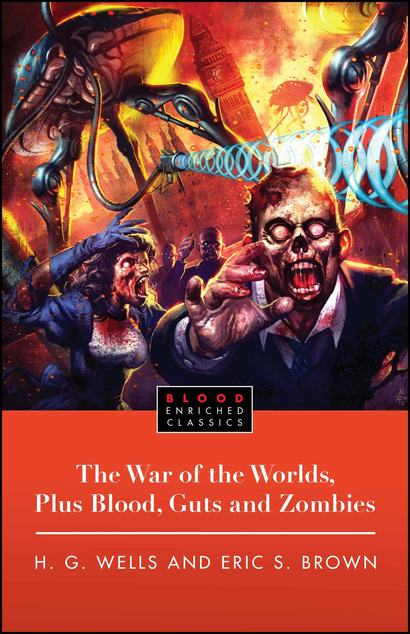 The war of the worlds plus blood guts and zombies 9781451611359 hr