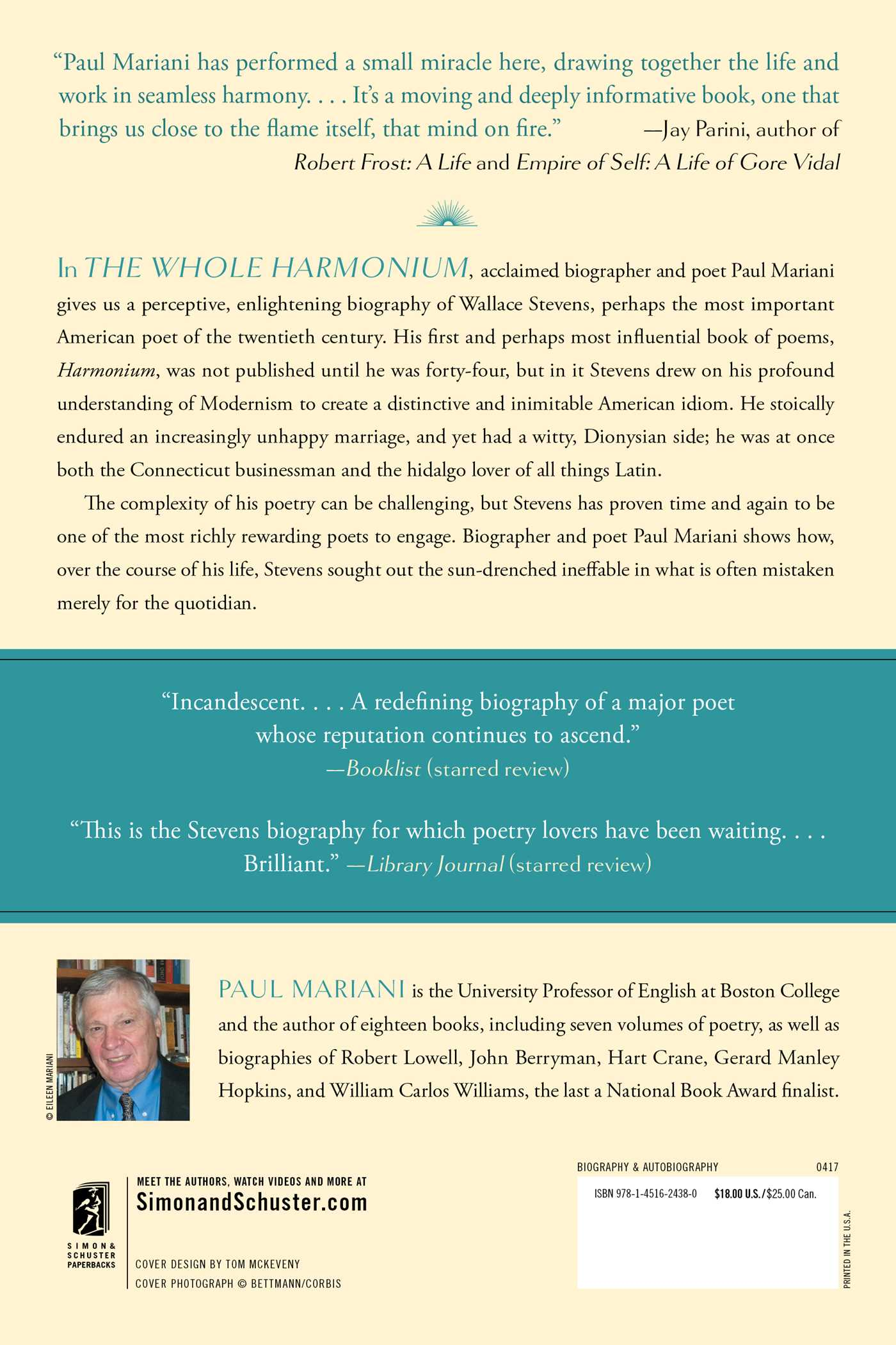 The Whole Harmonium  Book By Paul Mariani  Official Publisher Page   Simon & Schuster