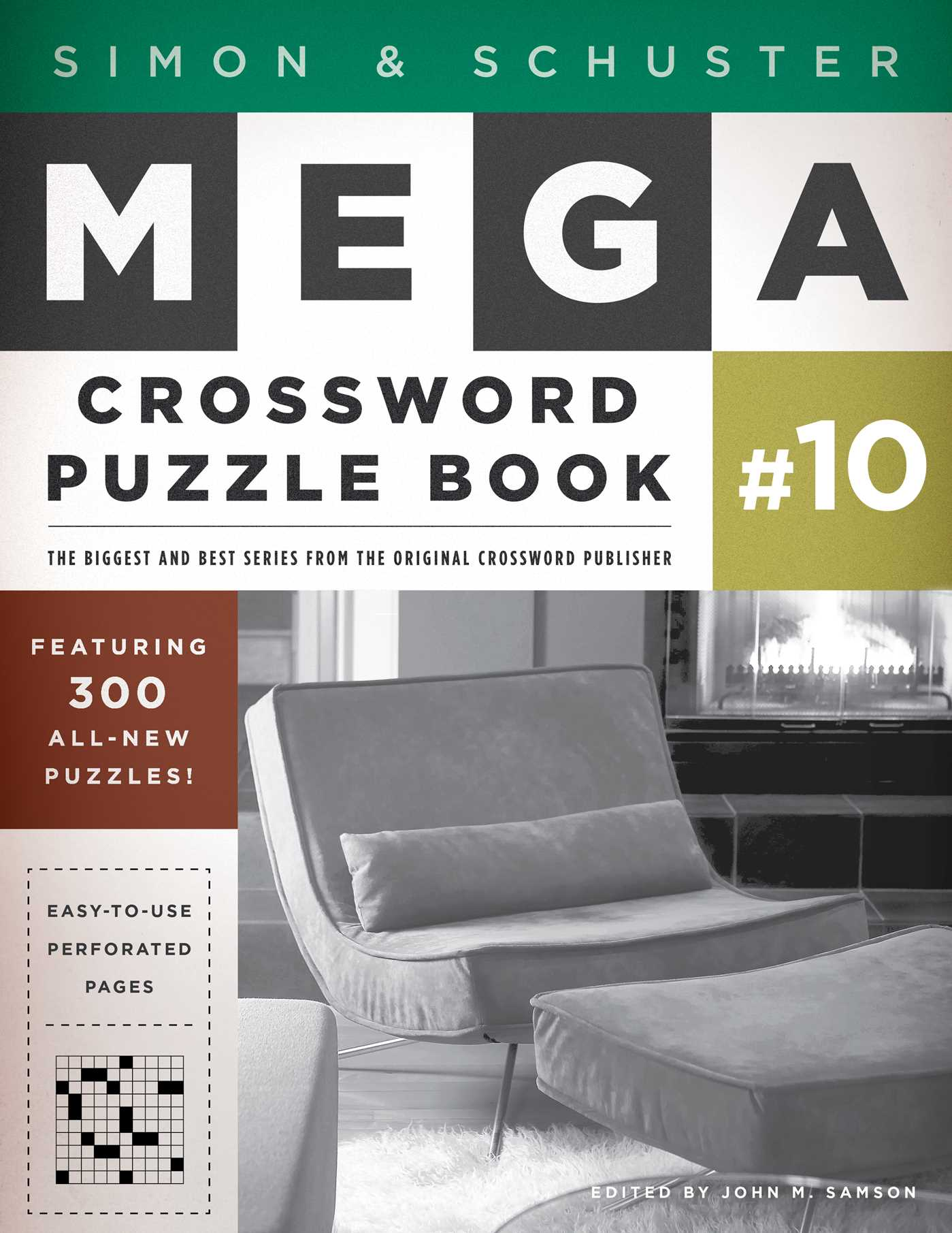 Simon schuster mega crossword puzzle book 10 9781451627381 hr