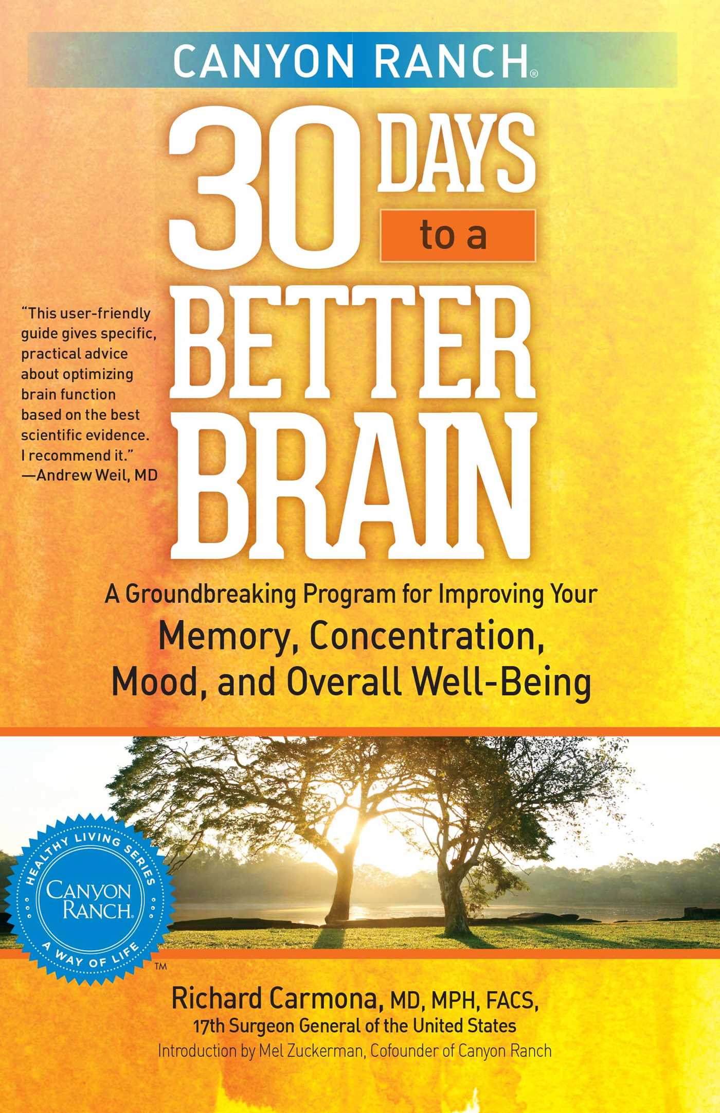 Canyon ranch 30 days to a better brain 9781451643817 hr