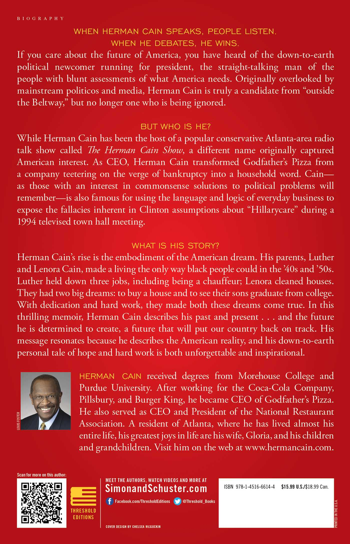 This is herman cain! 9781451666144 hr back
